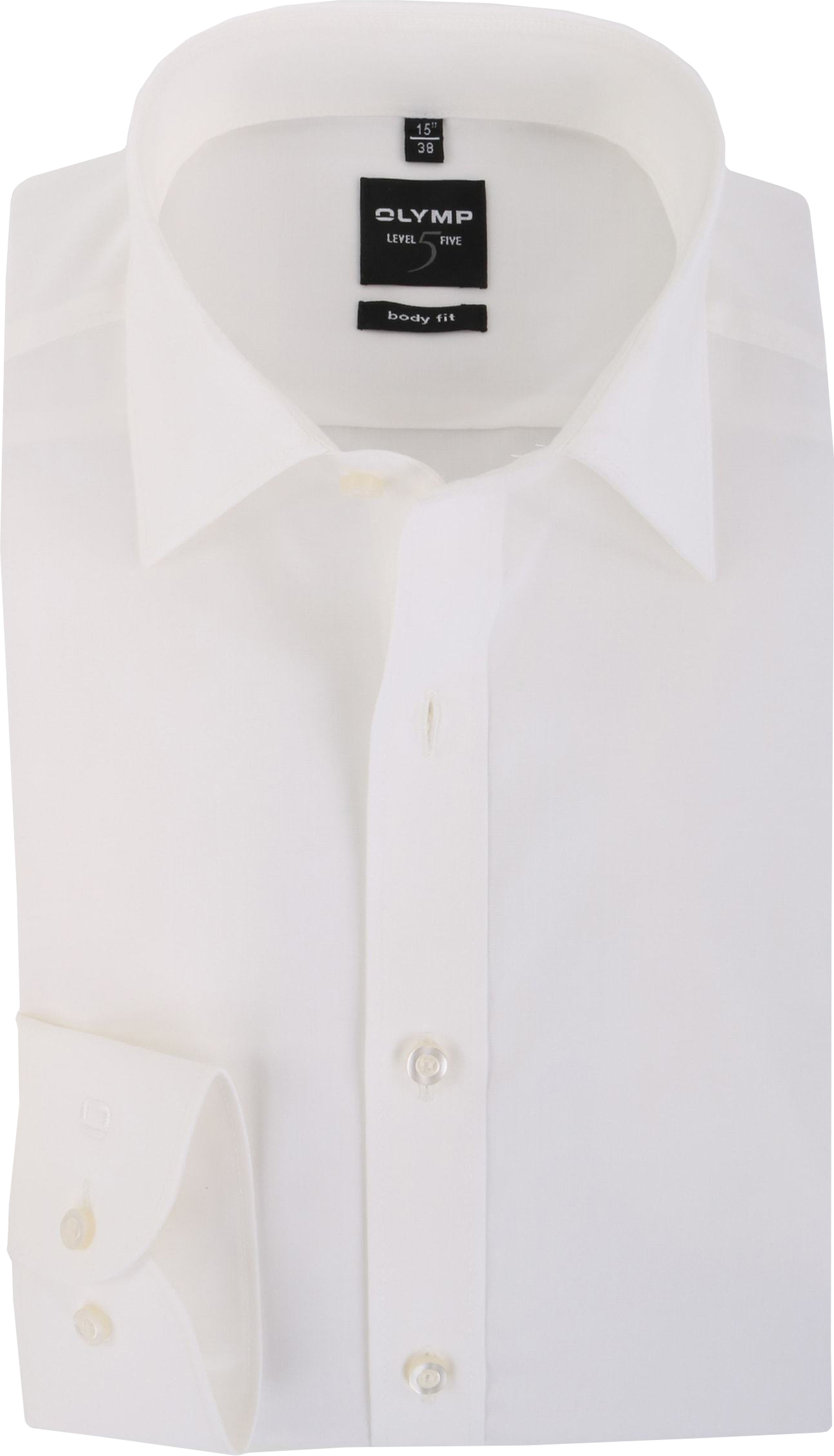 OLYMP Level Five Overhemd Body-Fit Off White foto 0
