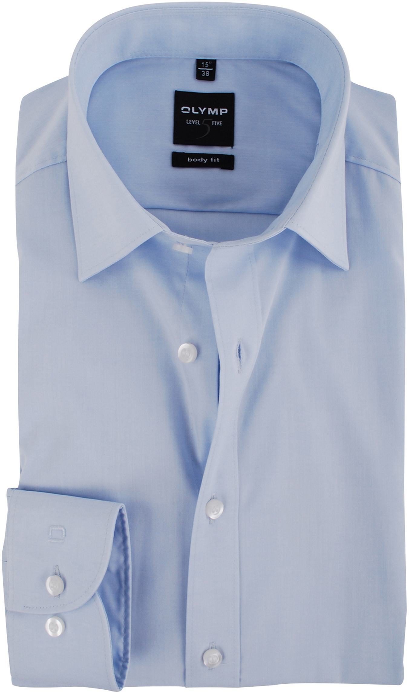 Olymp Level Five Shirt Body-fit Light Blue foto 0