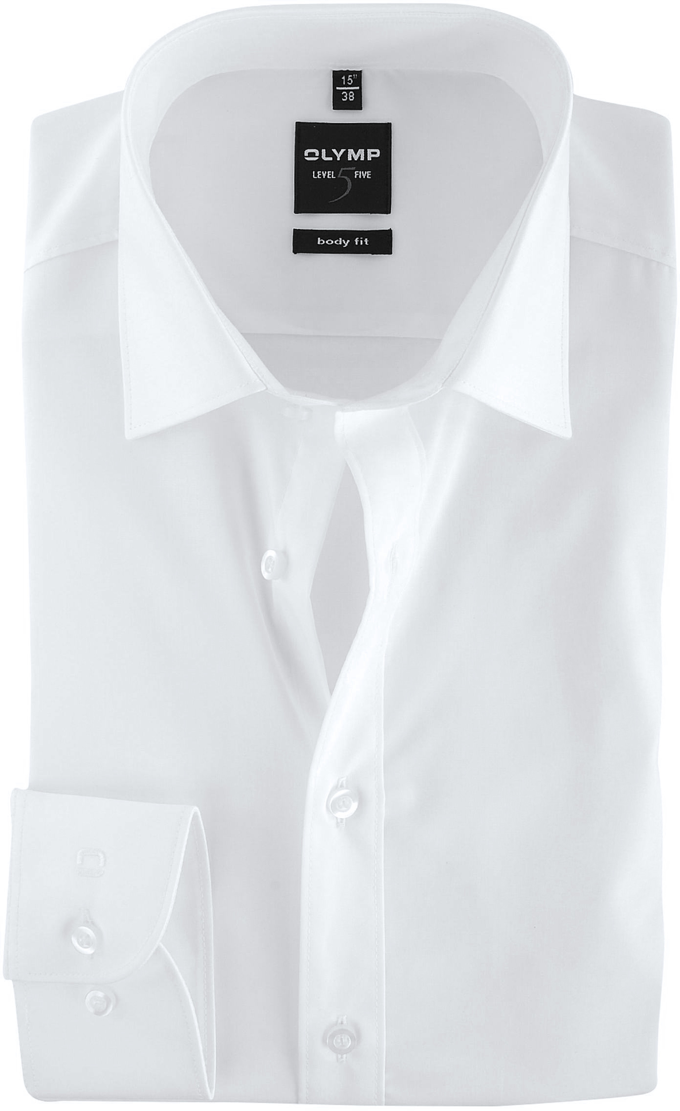 Olymp Level Five Shirt Body-Wit White foto 0