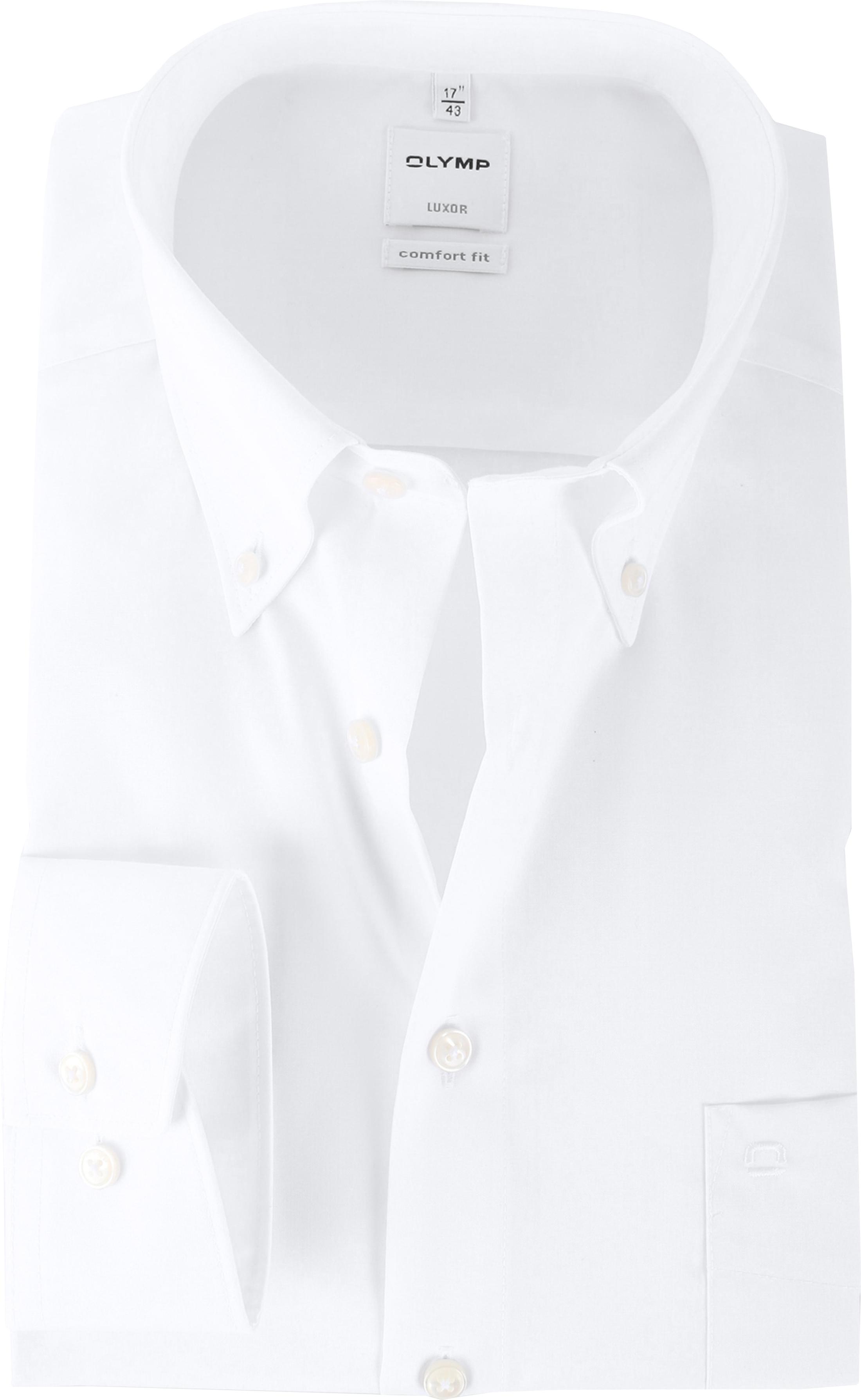 OLYMP Luxor Bügelfrei Hemd Weiß Comfort Fit foto 0