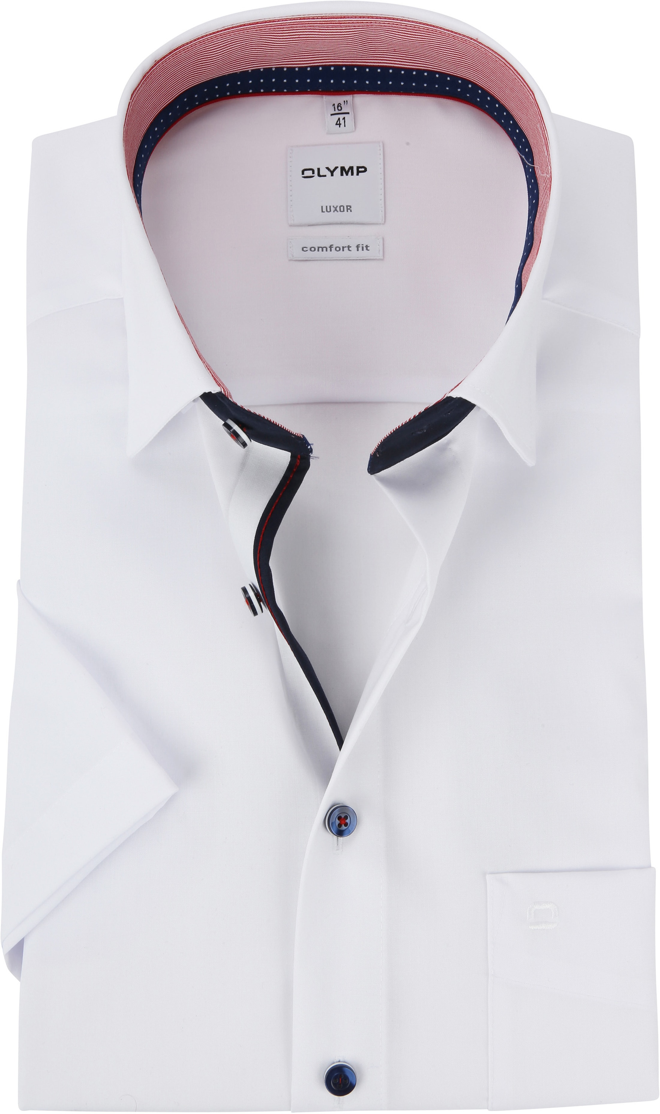 look for info for good quality OLYMP Luxor CF SS White Shirt 071612 order online | Suitable