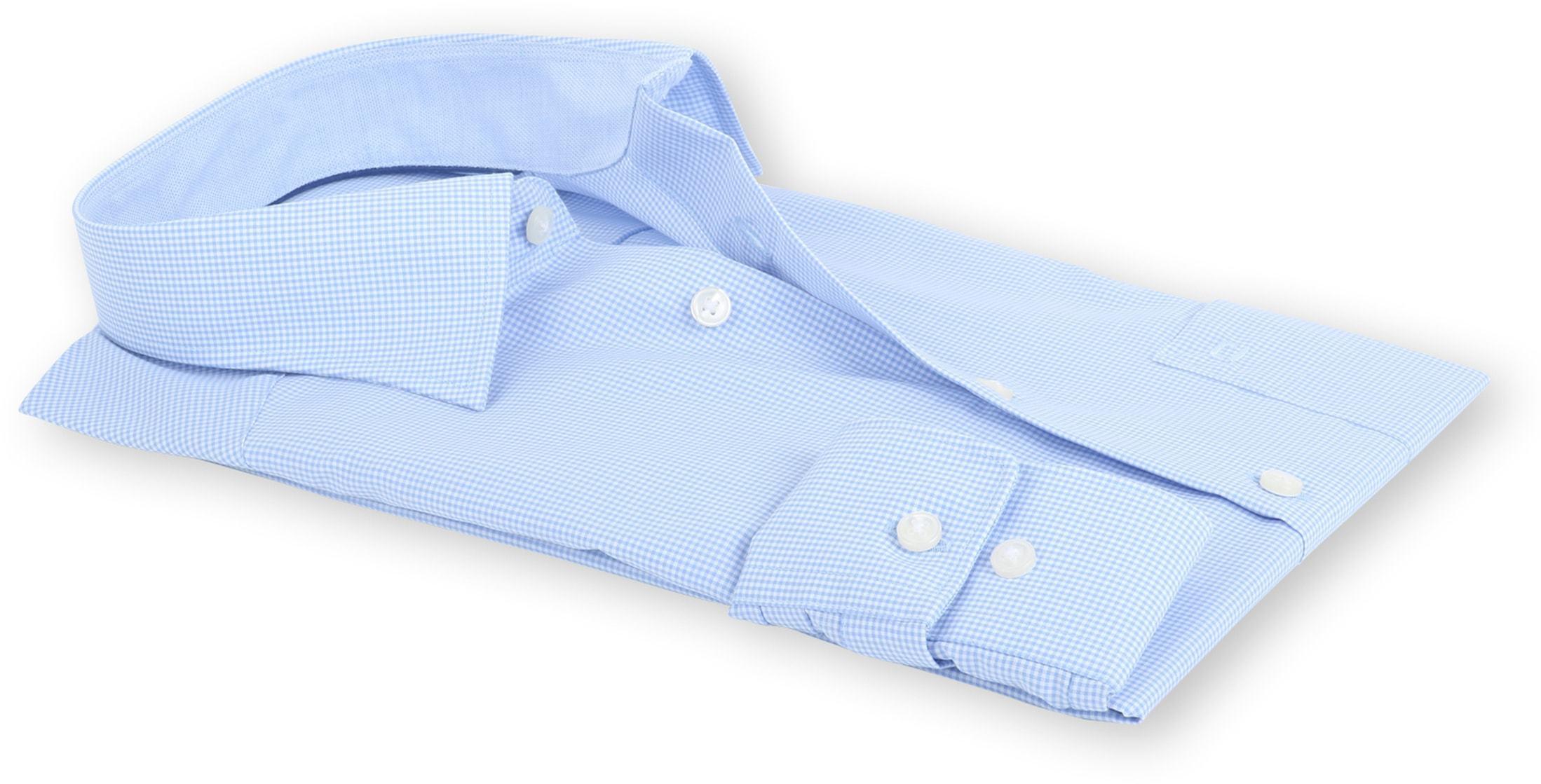 OLYMP Luxor Comfort Fit Shirt Blauw Ruit foto 3