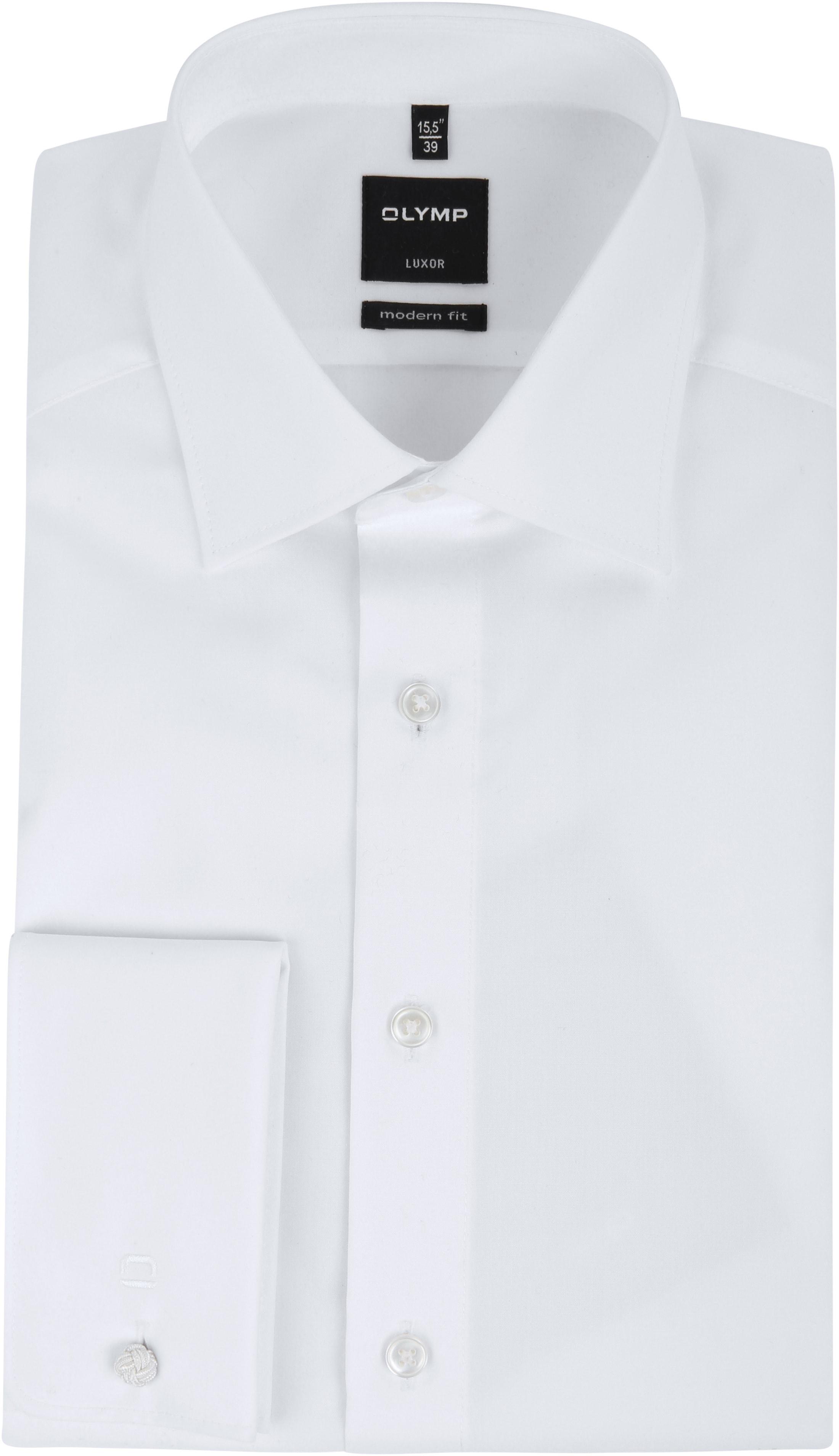 OLYMP Luxor Dubbelmanchet Overhemd Wit
