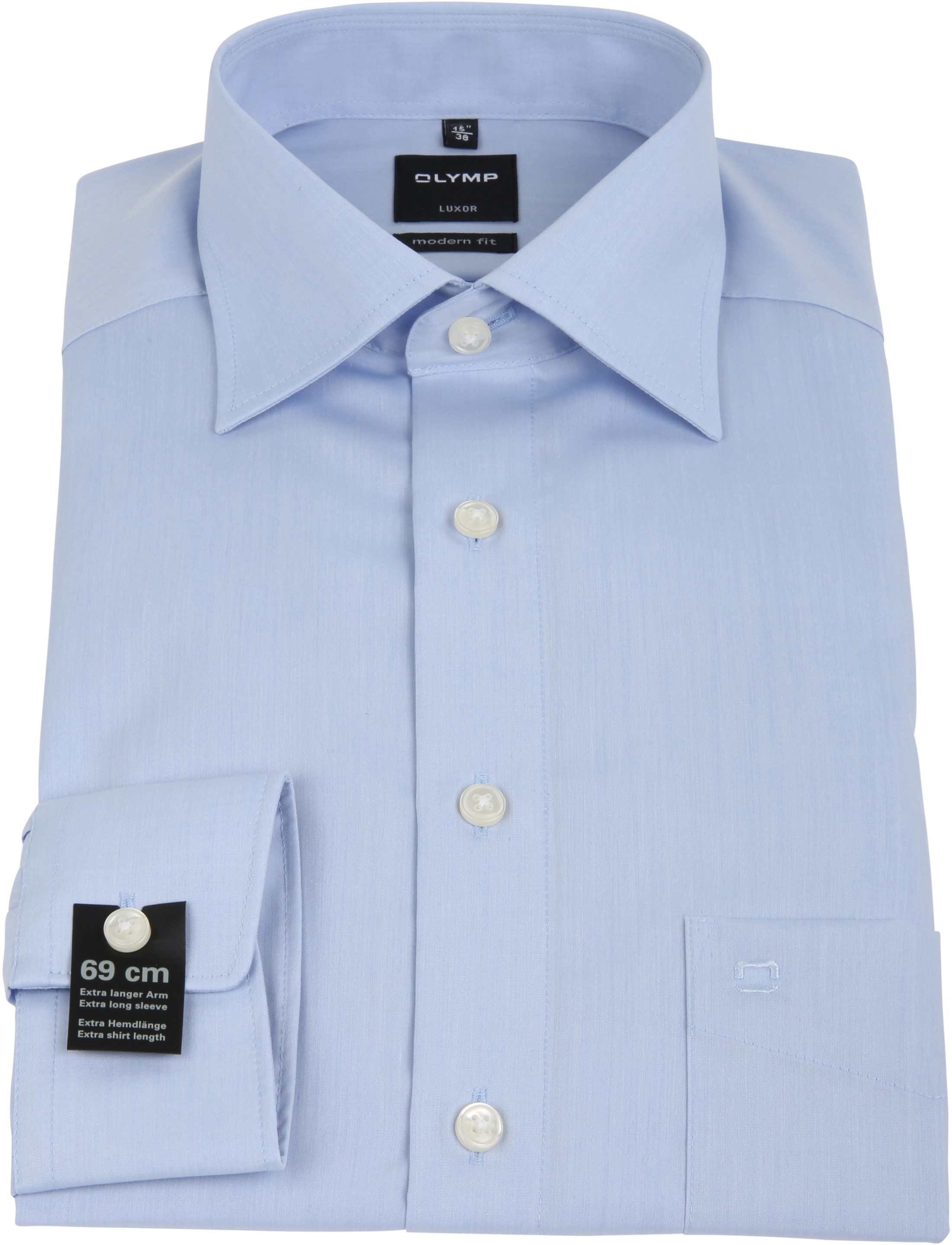 Olymp Luxor Extra Long Sleeve Shirt Blue