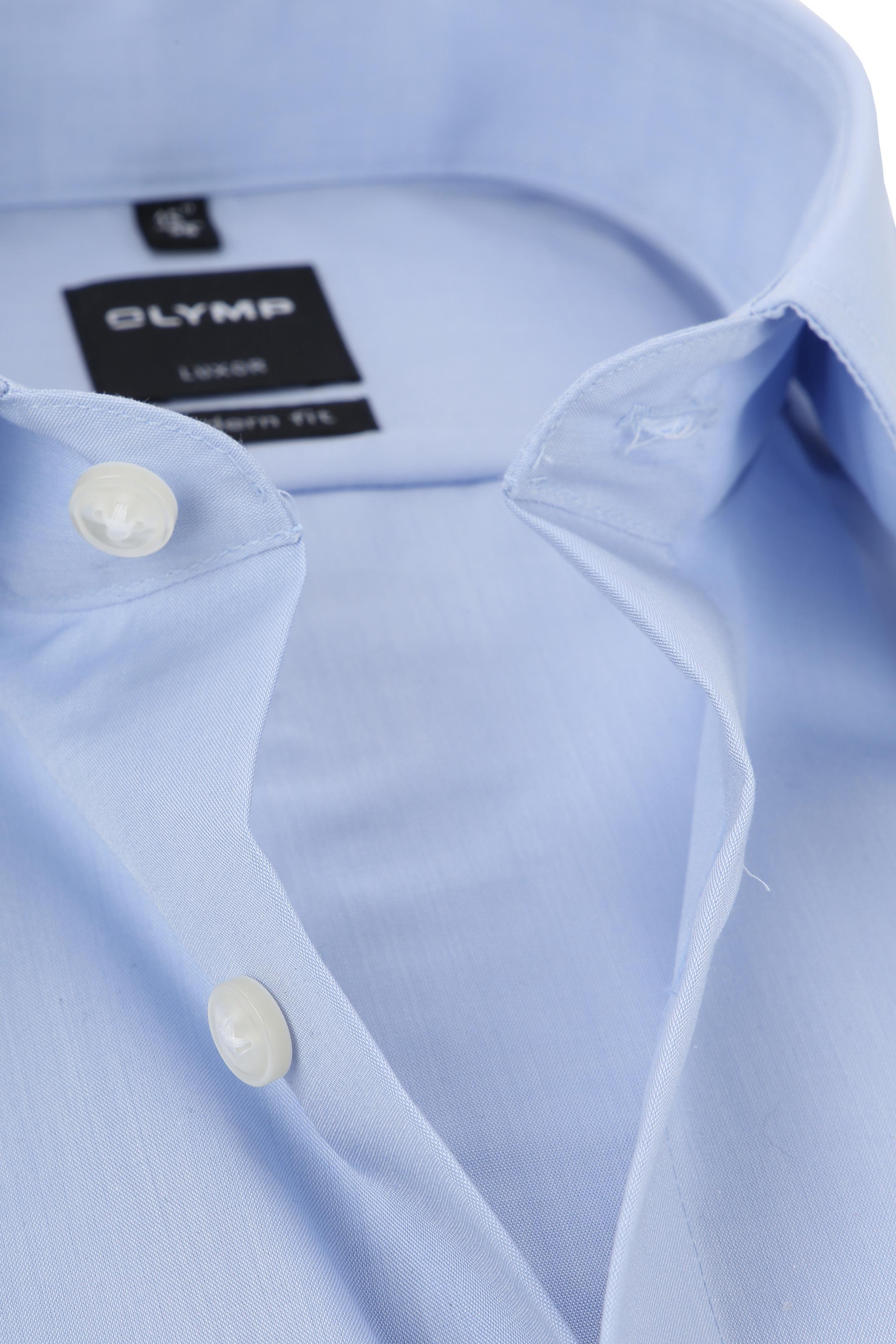 OLYMP Luxor Hemd Modern Fit Doppelmanschette Blau foto 1