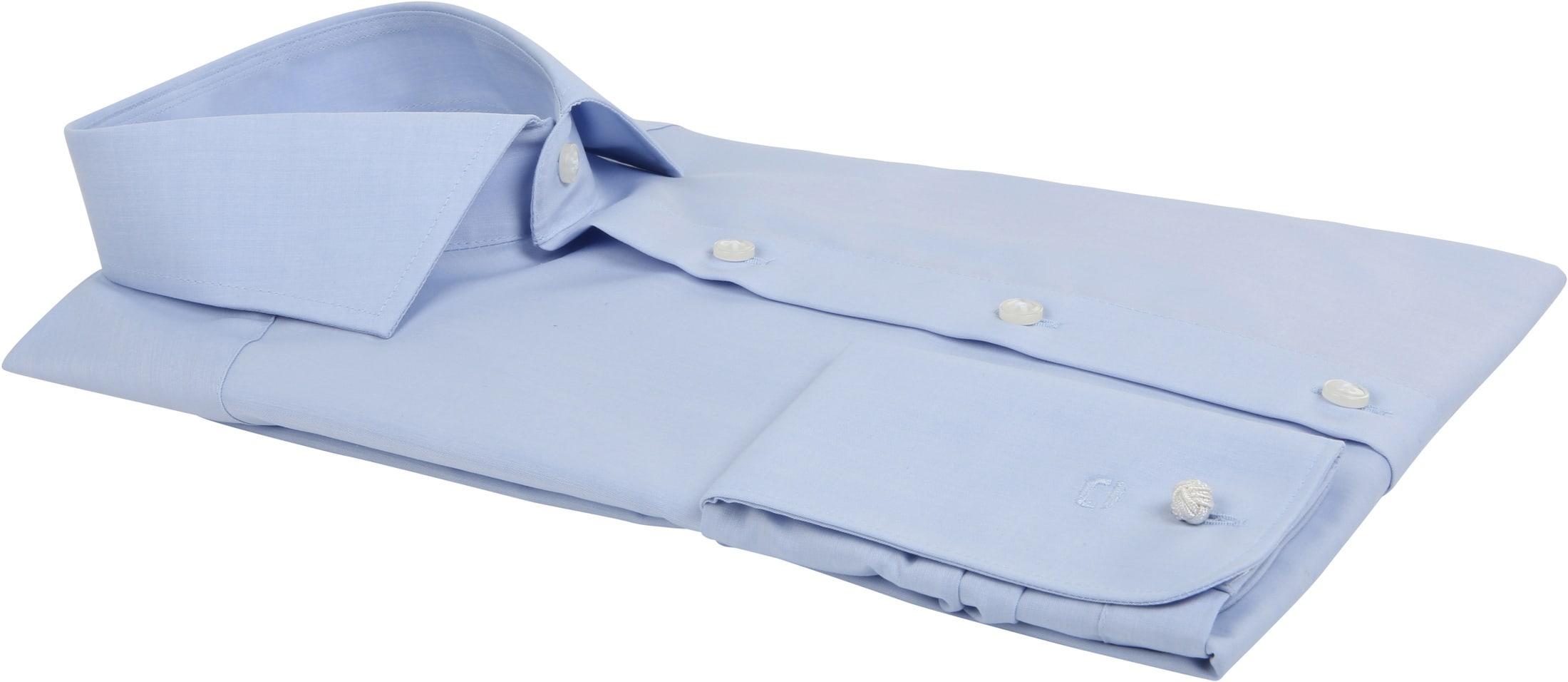 OLYMP Luxor Hemd SL7 Modern Fit Blau Doppelmanschette