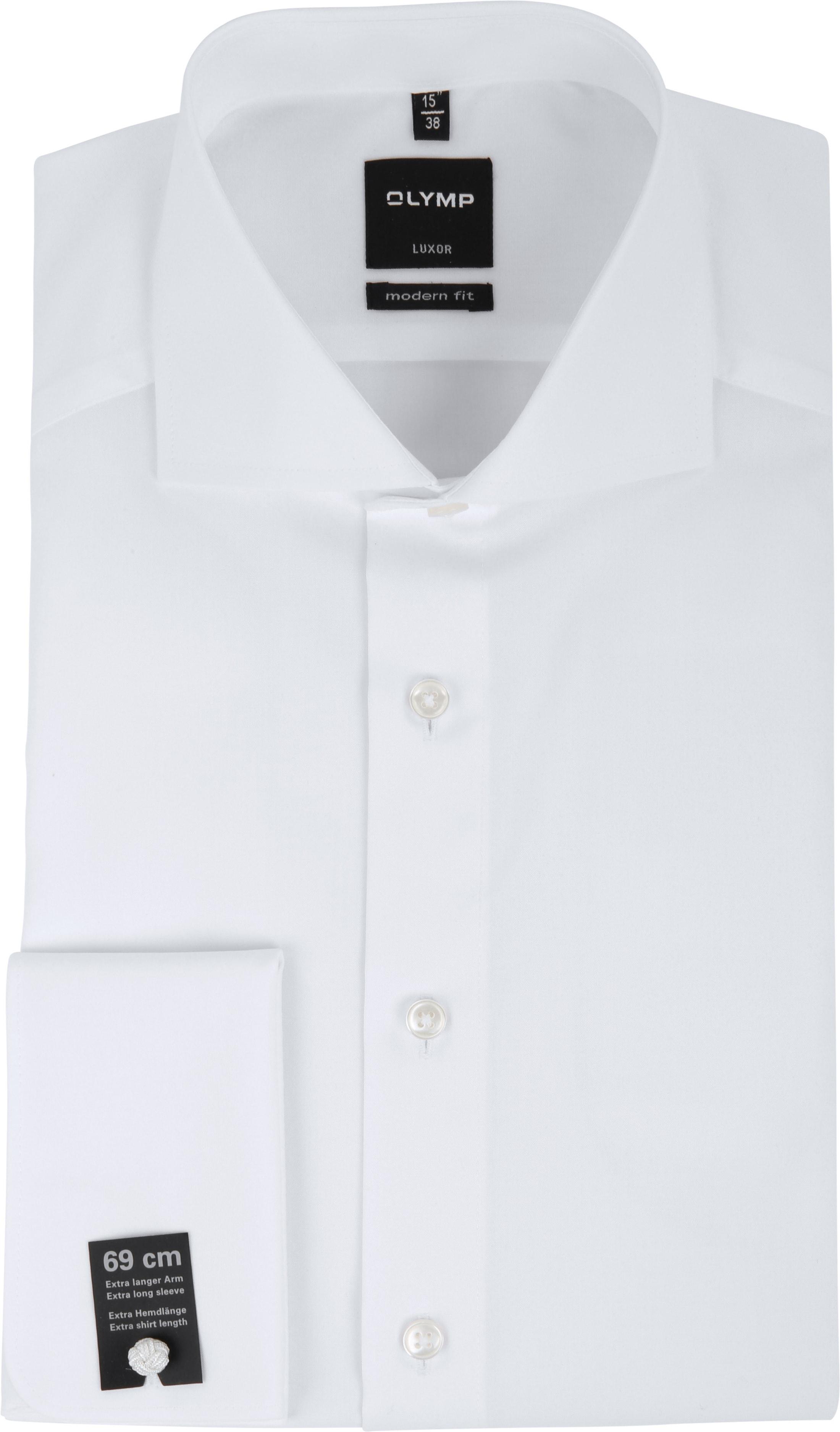 OLYMP Luxor Hemd SL7 Modern Fit Doppelmanschette Weiß foto 0