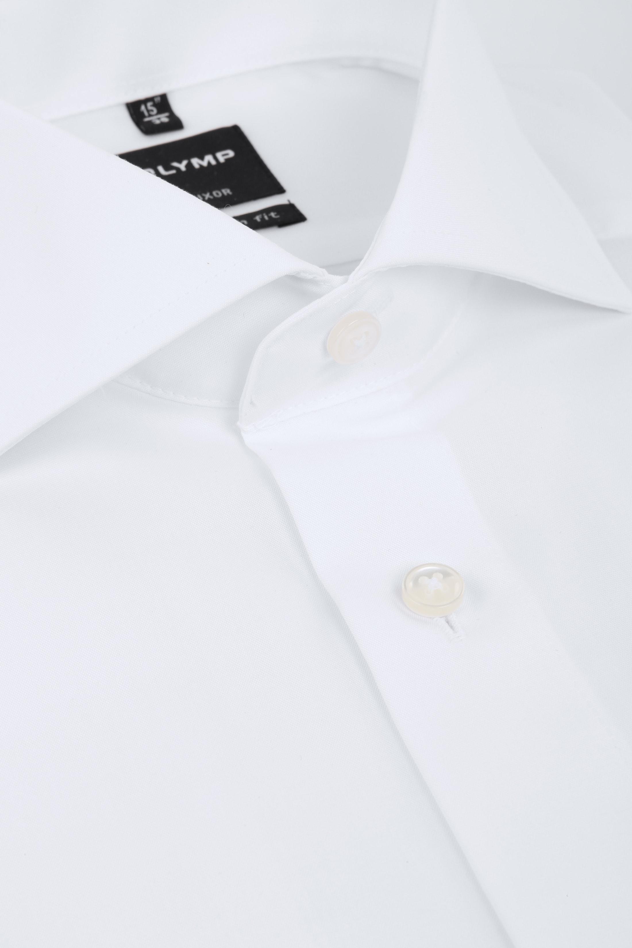 OLYMP Luxor Hemd SL7 Modern Fit Doppelmanschette Weiß foto 1