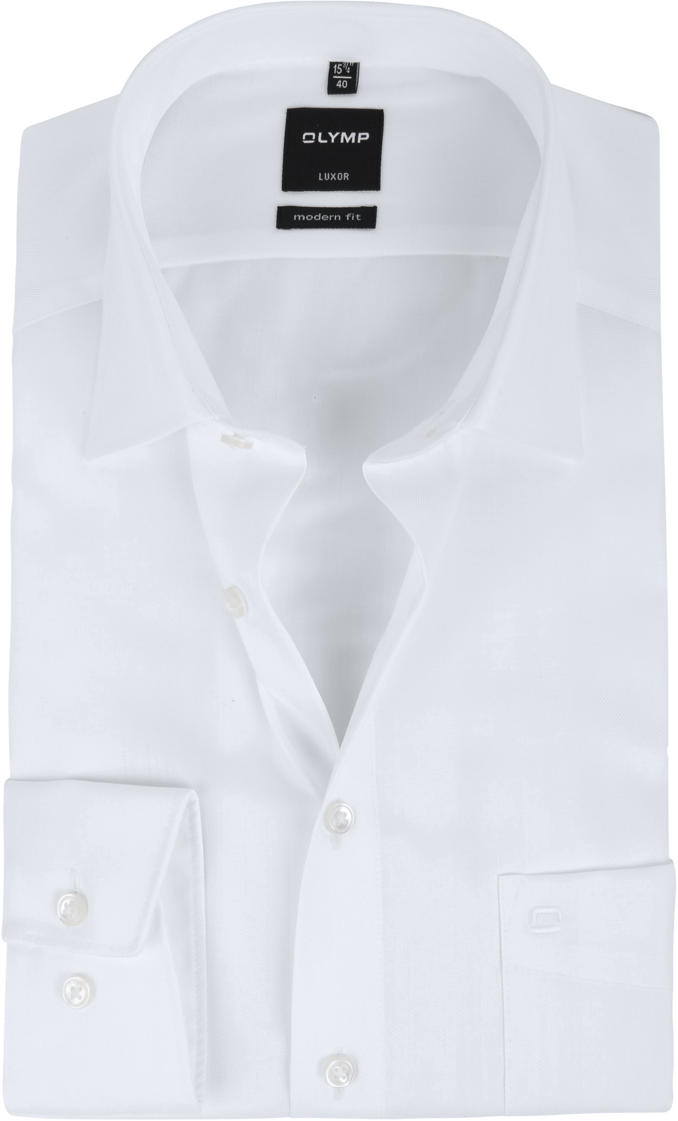 OLYMP Luxor Hemd Slim Line White Herring