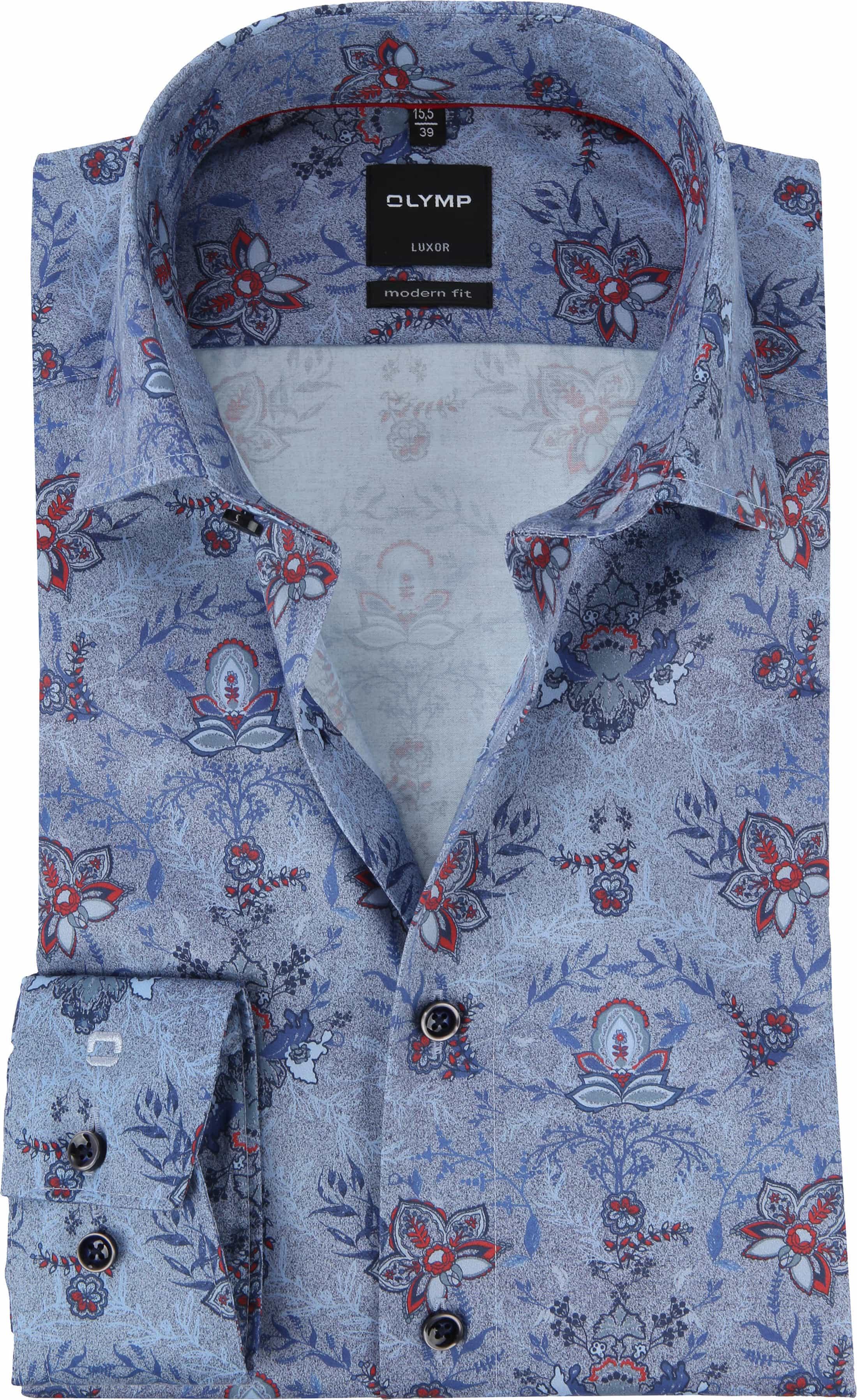competitive price 41820 cf2f2 OLYMP Luxor MF Hemd Blumen Blau 120434 online kaufen | Suitable