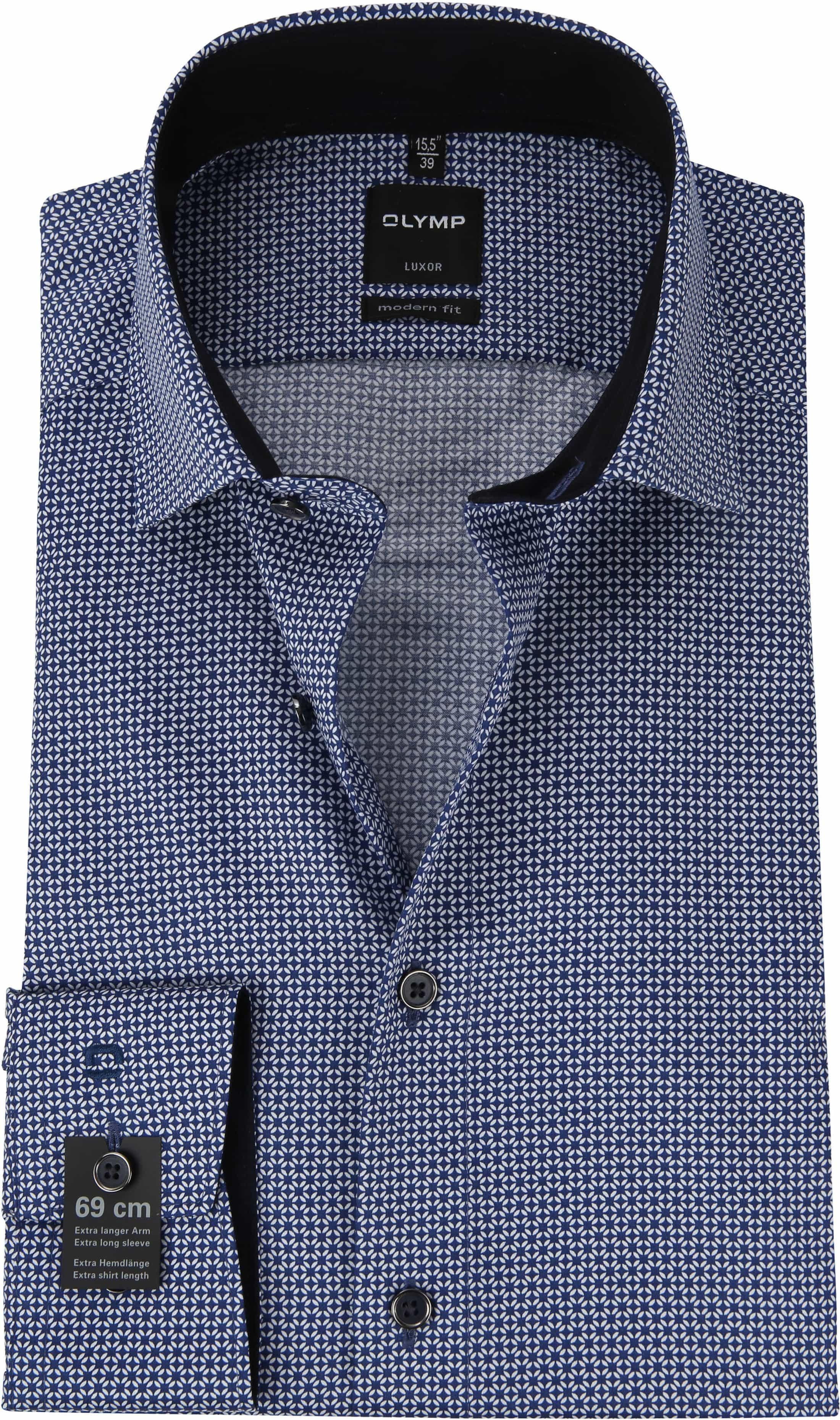 OLYMP Luxor MF Hemd Print Blau SL7 127049 online kaufen