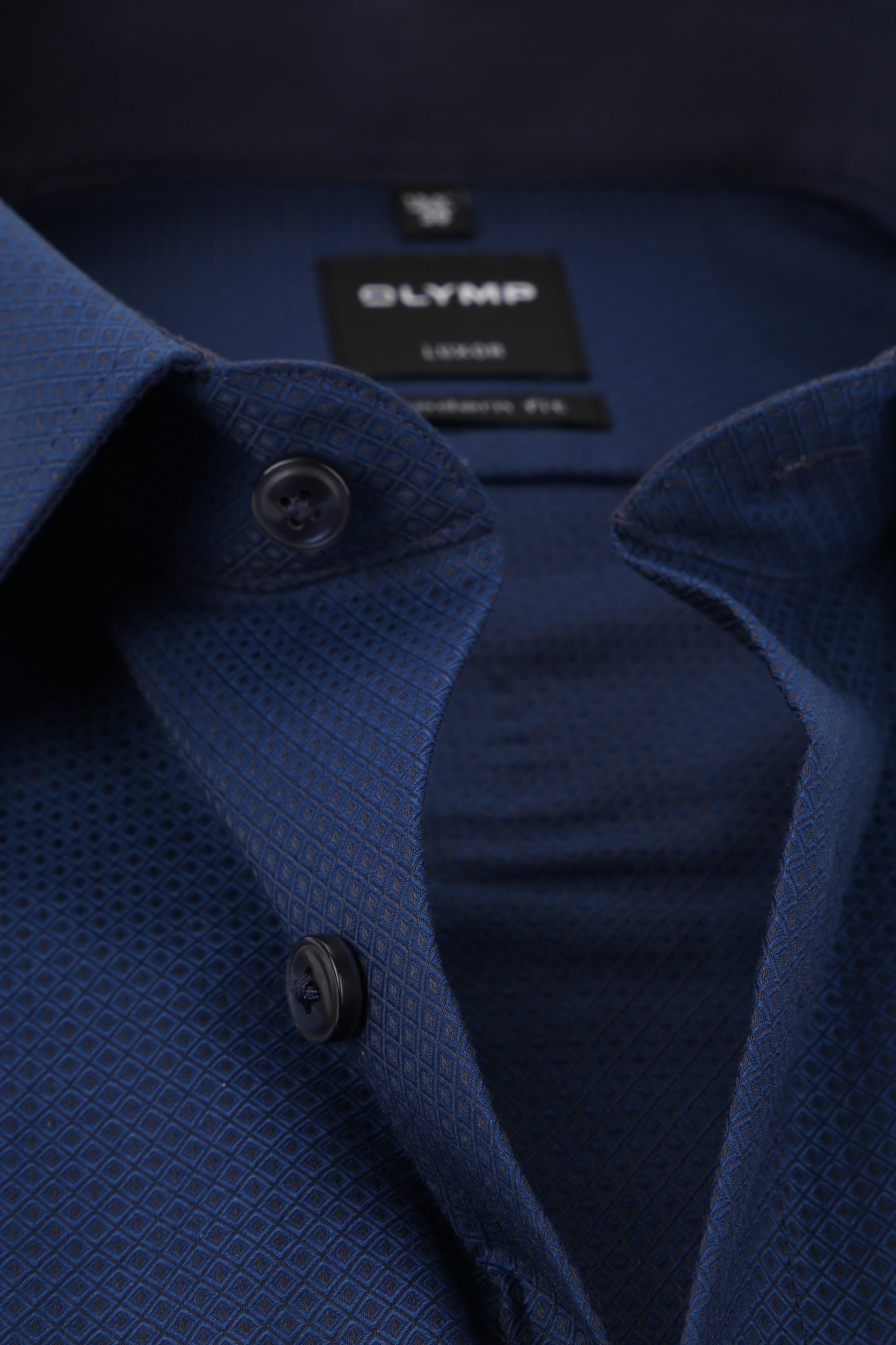 OLYMP Luxor MF Shirt Dessin Navy foto 1