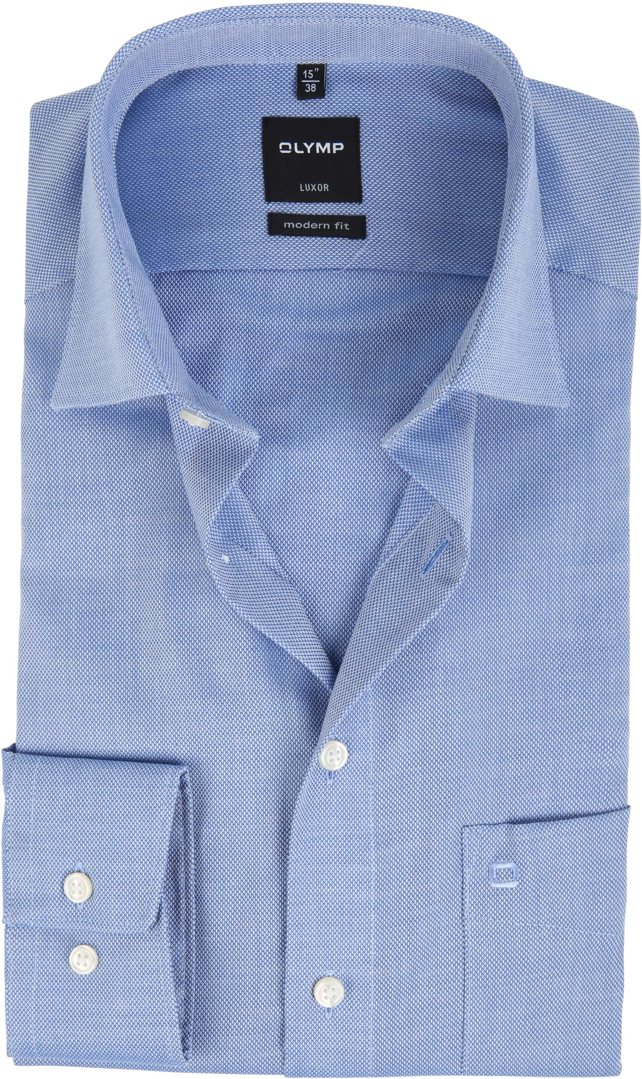 Olymp Luxor Non Iron Shirt Modern Fit Blue foto 0