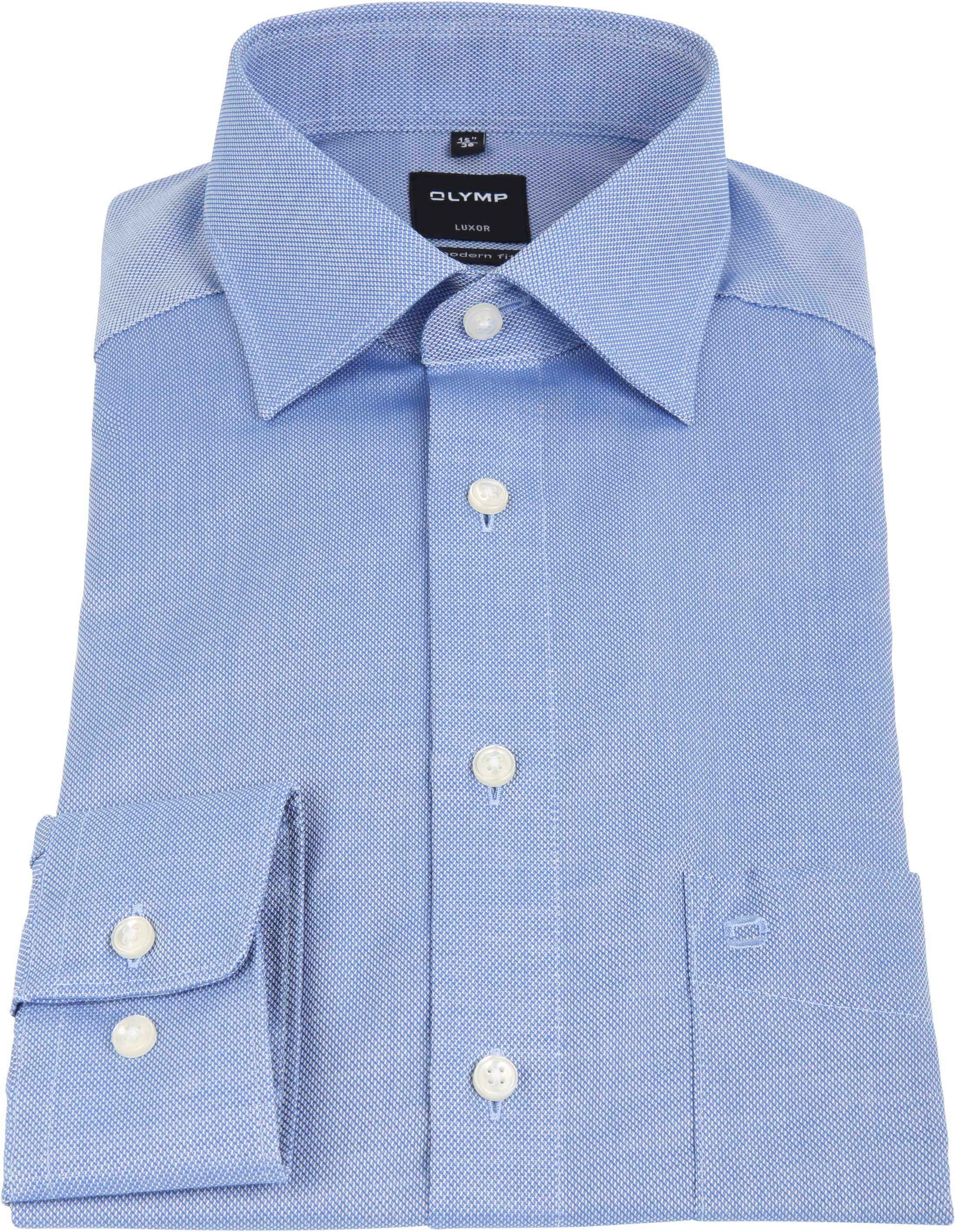 Olymp Luxor Non Iron Shirt Modern Fit Blue foto 2