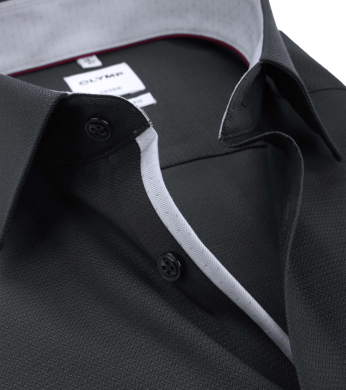 OLYMP Luxor Overhemd Antraciet Comfort Fit foto 1
