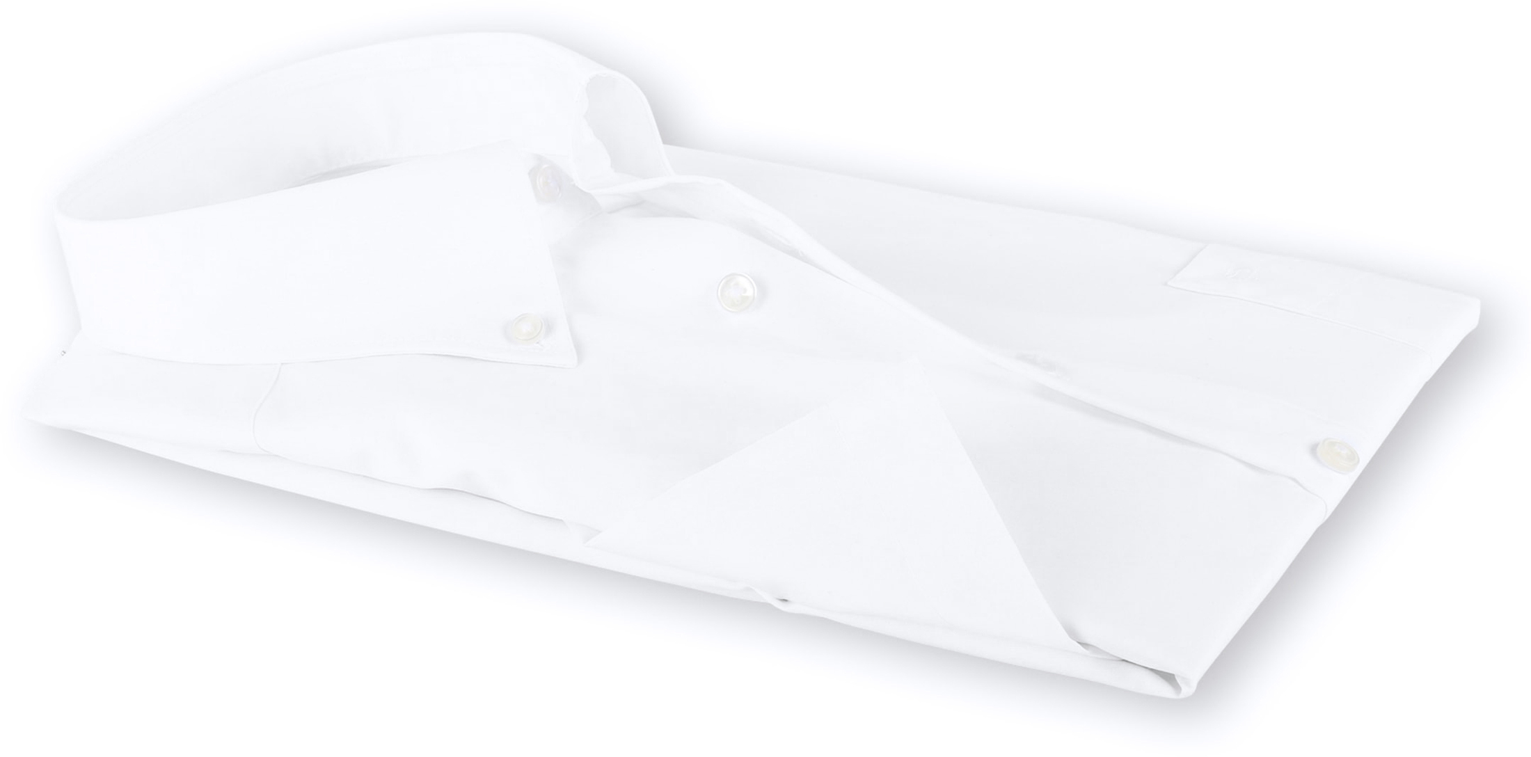 OLYMP Luxor Overhemd Comfort Fit Wit Korte Mouw foto 3