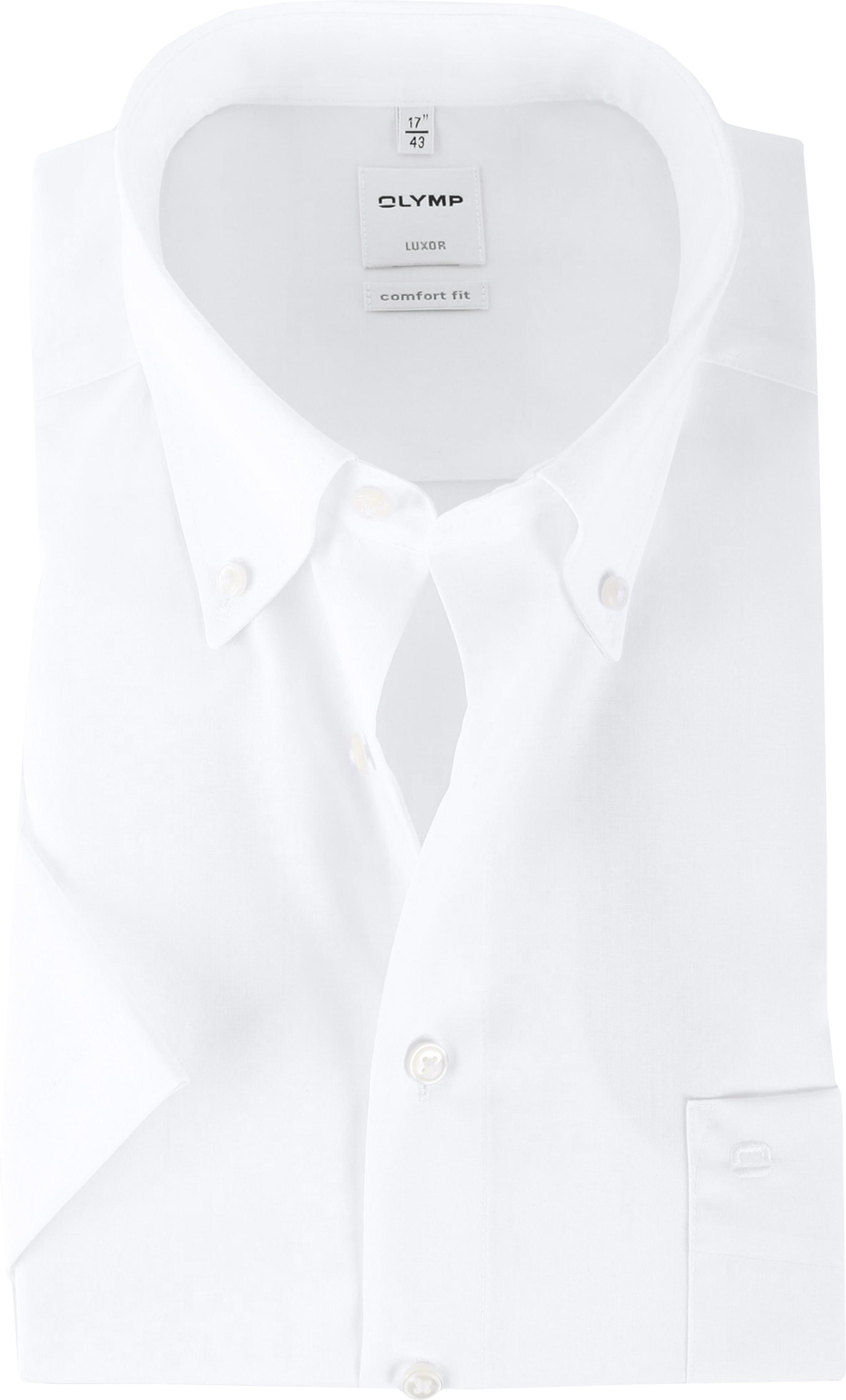 OLYMP Luxor Overhemd Comfort Fit Wit Korte Mouw foto 0