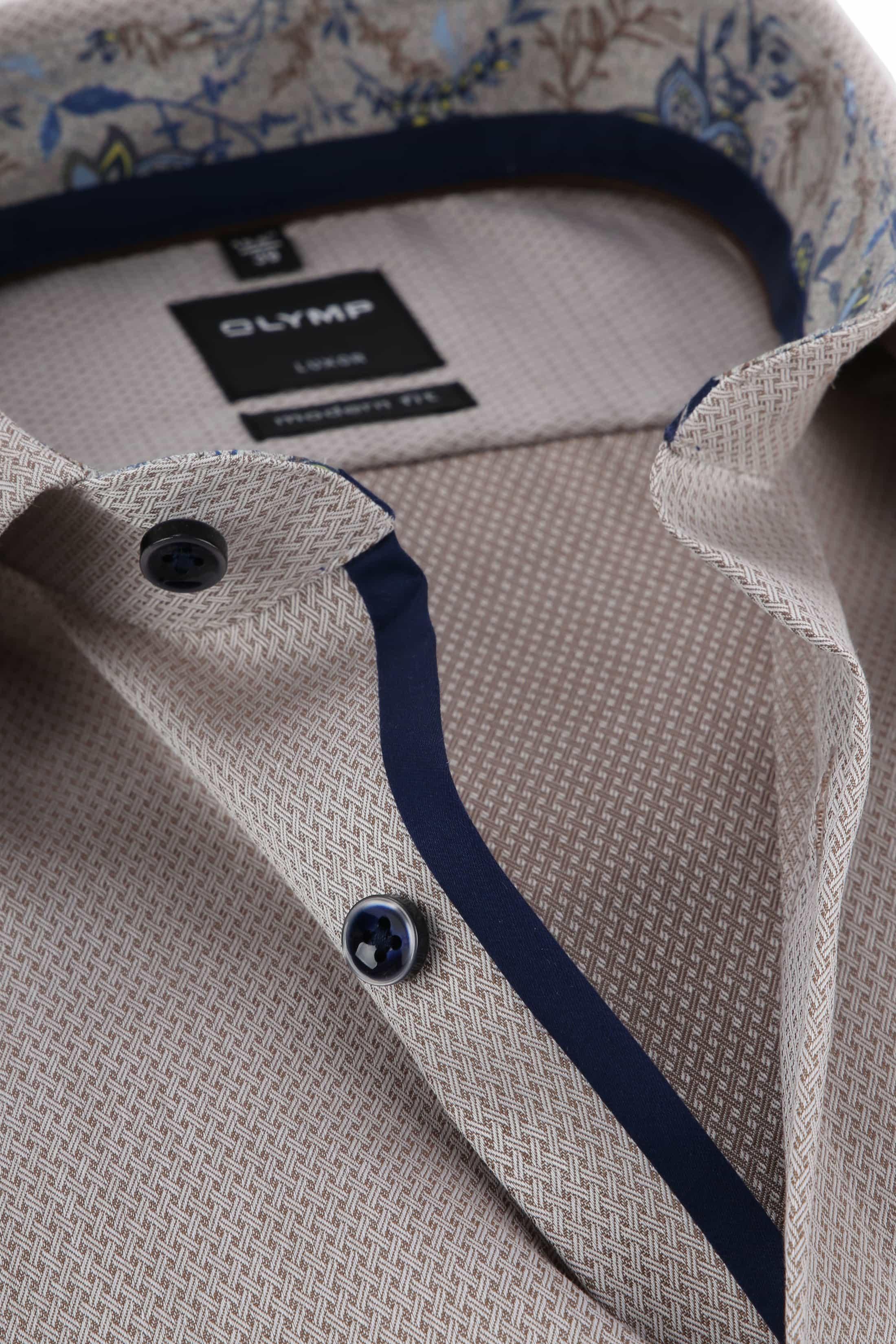 OLYMP Luxor Overhemd MF Beige foto 1