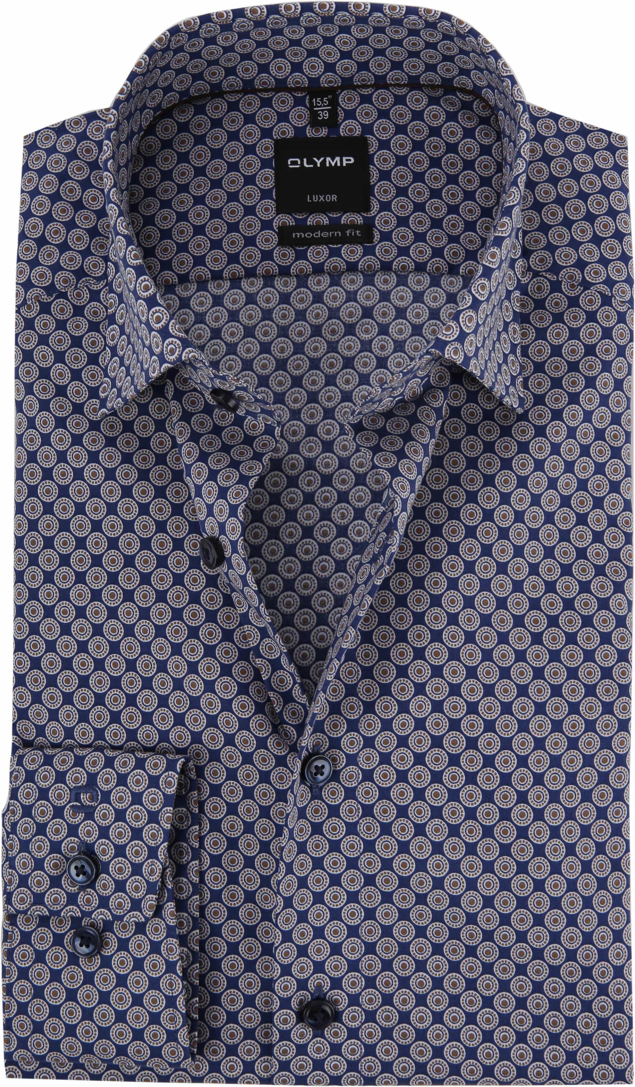 OLYMP Luxor Overhemd MF Bruin Dessin foto 0