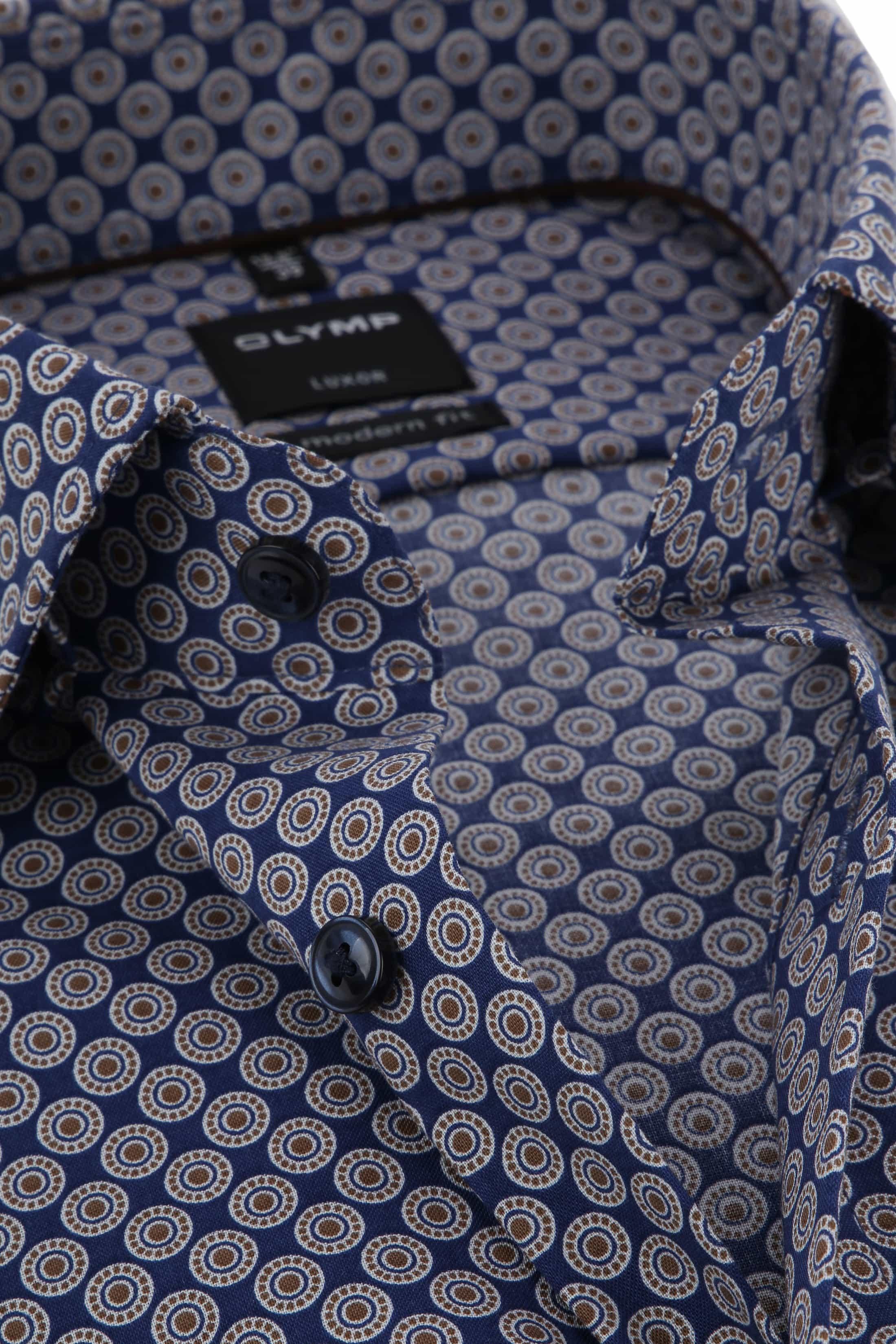 OLYMP Luxor Overhemd MF Bruin Dessin foto 1