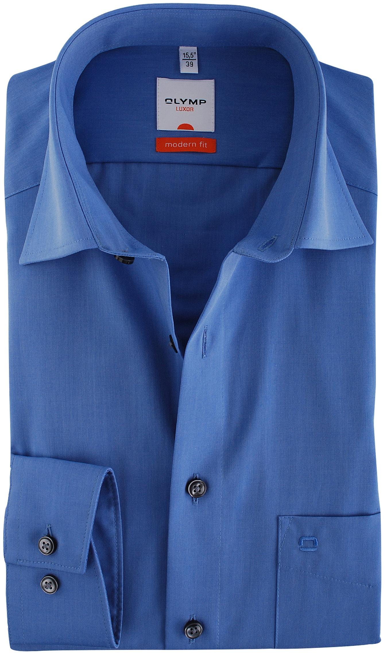 olymp luxor overhemd modern fit blauw. Black Bedroom Furniture Sets. Home Design Ideas