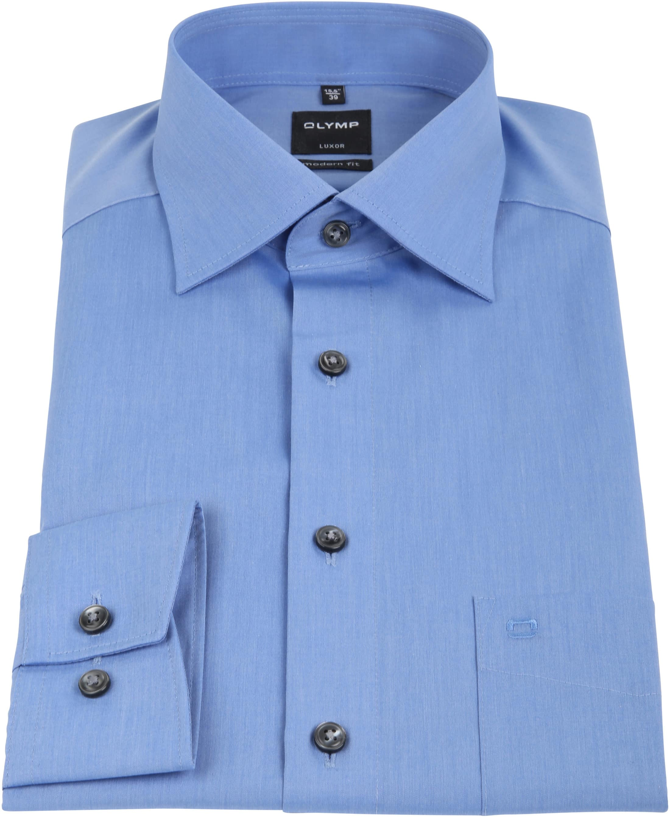 olymp luxor overhemd modern fit blauw 030464. Black Bedroom Furniture Sets. Home Design Ideas