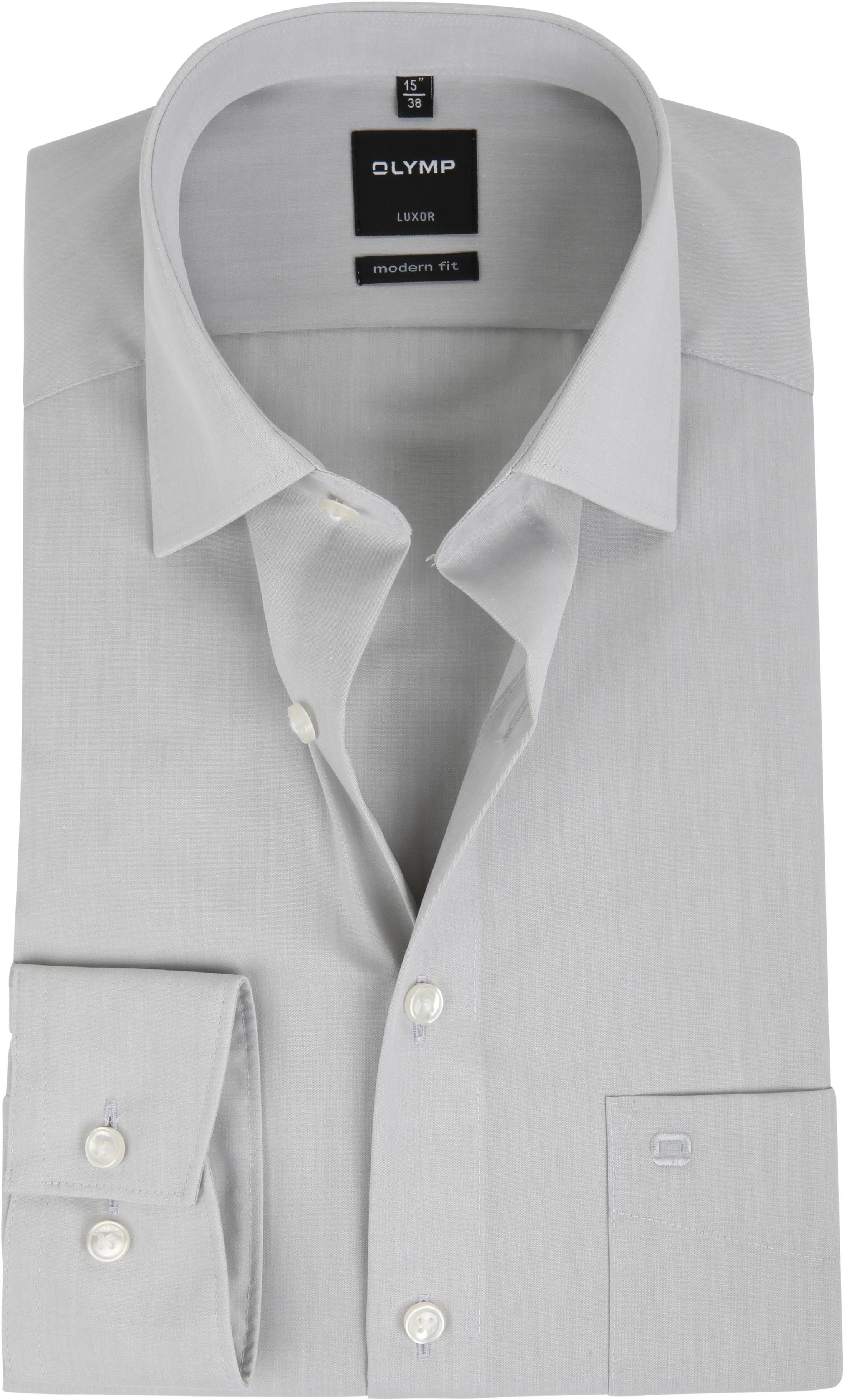 olymp luxor overhemd modern fit grijs 030464. Black Bedroom Furniture Sets. Home Design Ideas