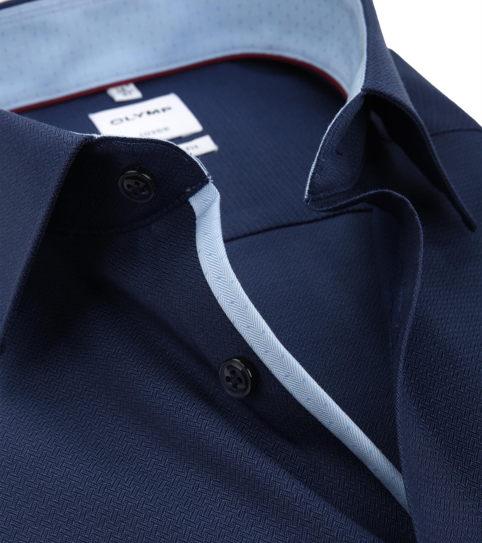OLYMP Luxor Overhemd Navy Comfort Fit foto 1