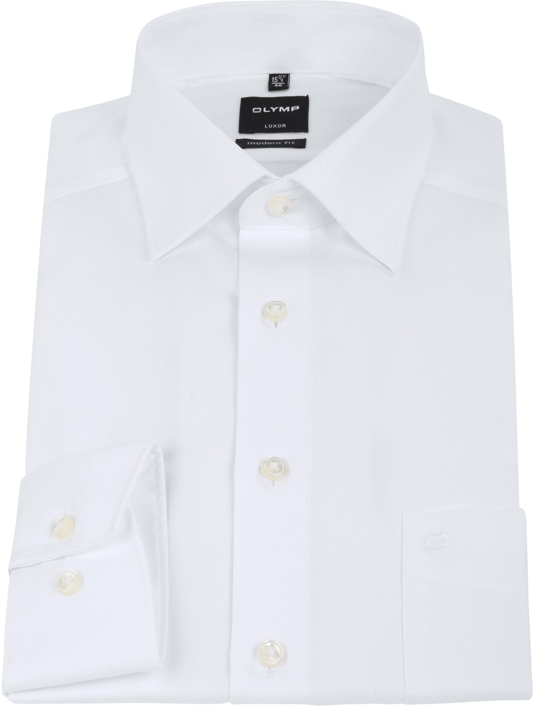 olymp luxor overhemd slim line white herring 033564. Black Bedroom Furniture Sets. Home Design Ideas