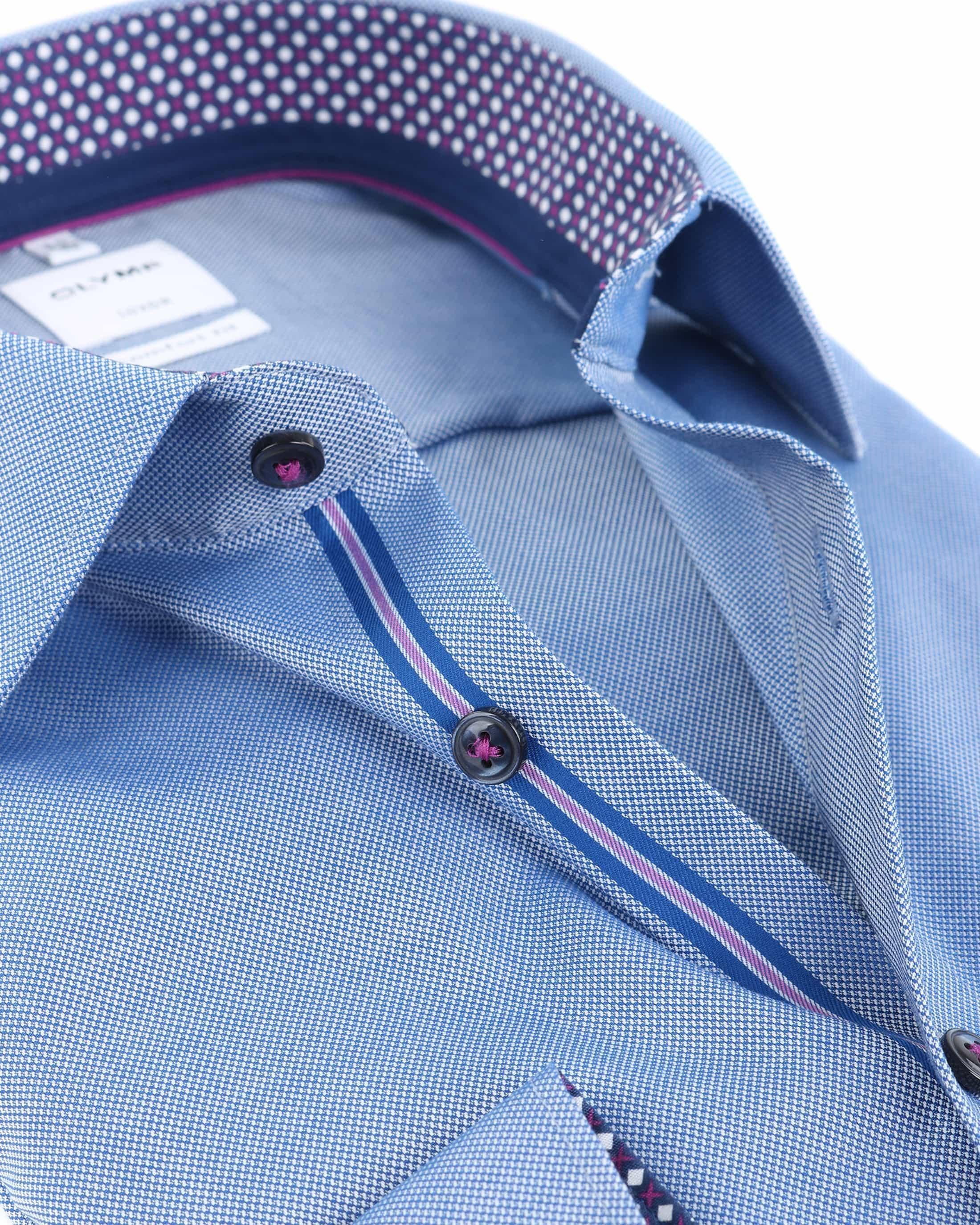 OLYMP Luxor Overhemd Strijkvrij Blauw Comfort Fit foto 1
