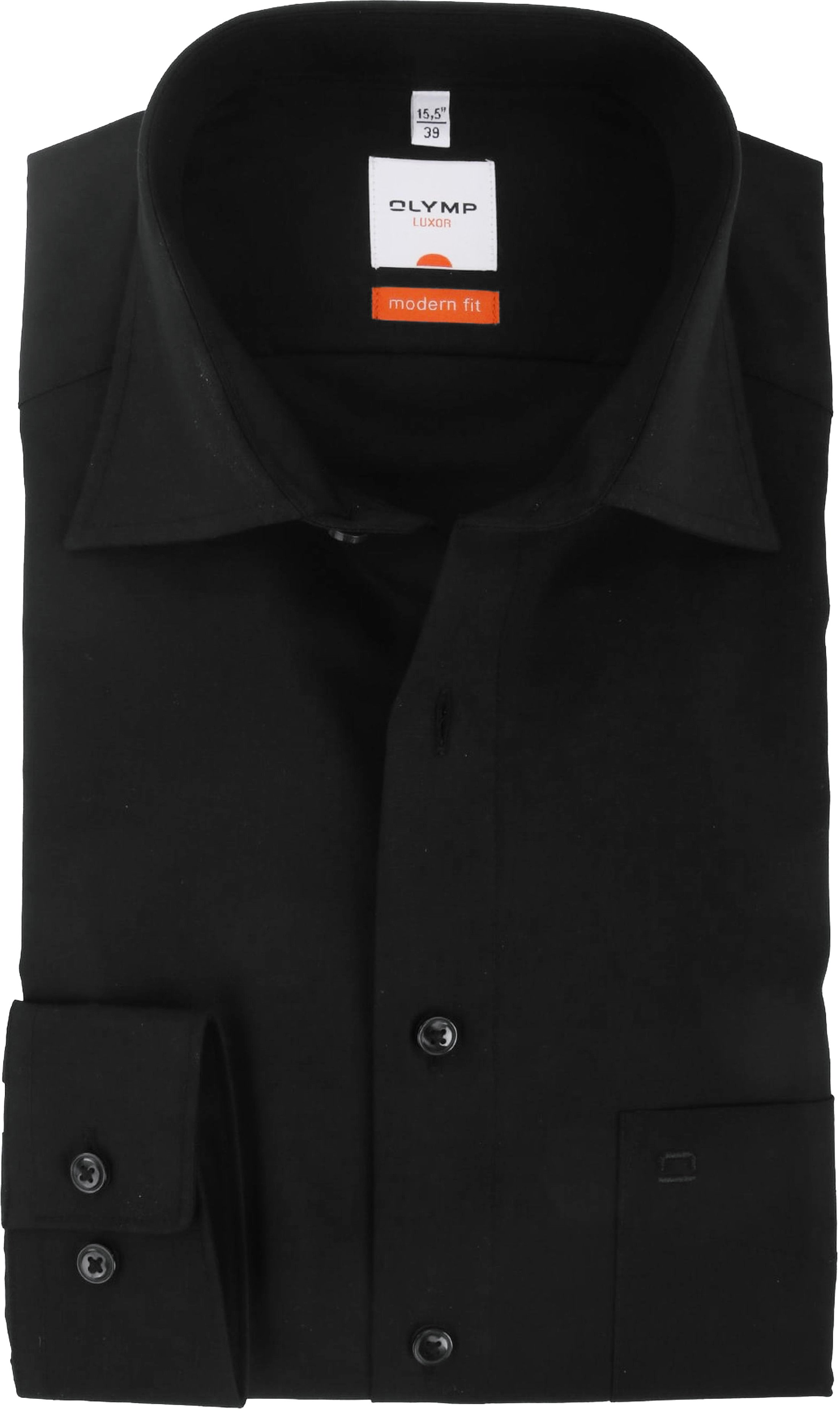 Olymp Luxor Shirt Black Modern Fit
