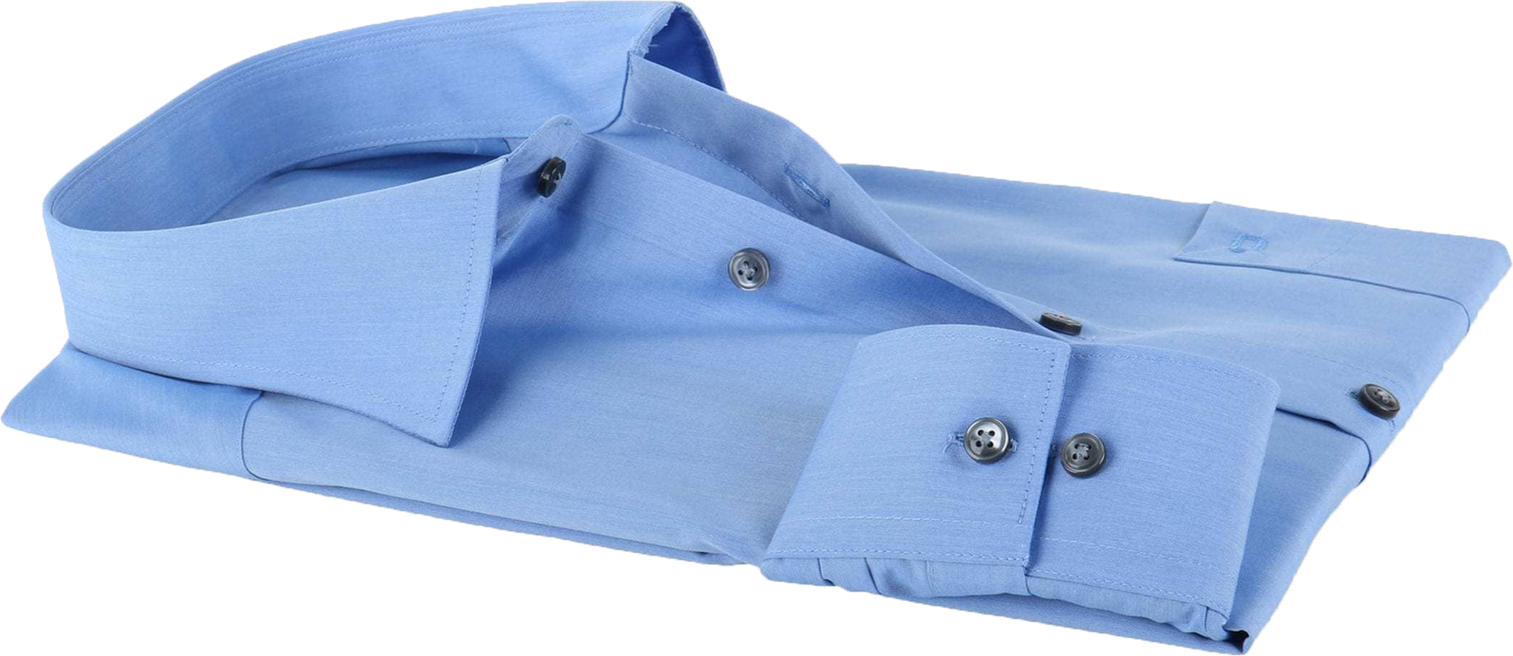 OLYMP Luxor Shirt Blauw Comfort Fit Lange Mouw foto 3