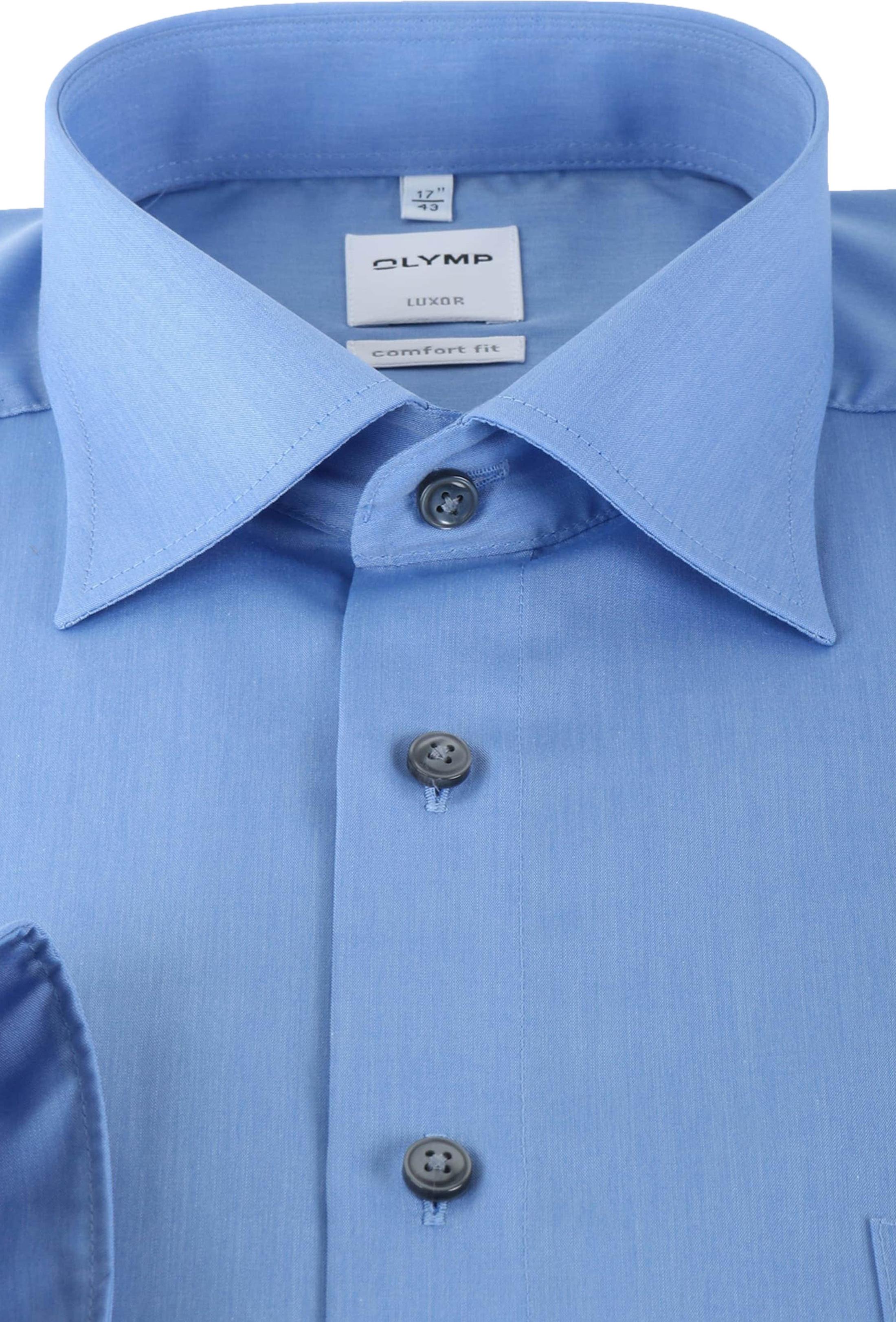 OLYMP Luxor Shirt Blauw Comfort Fit Lange Mouw foto 2