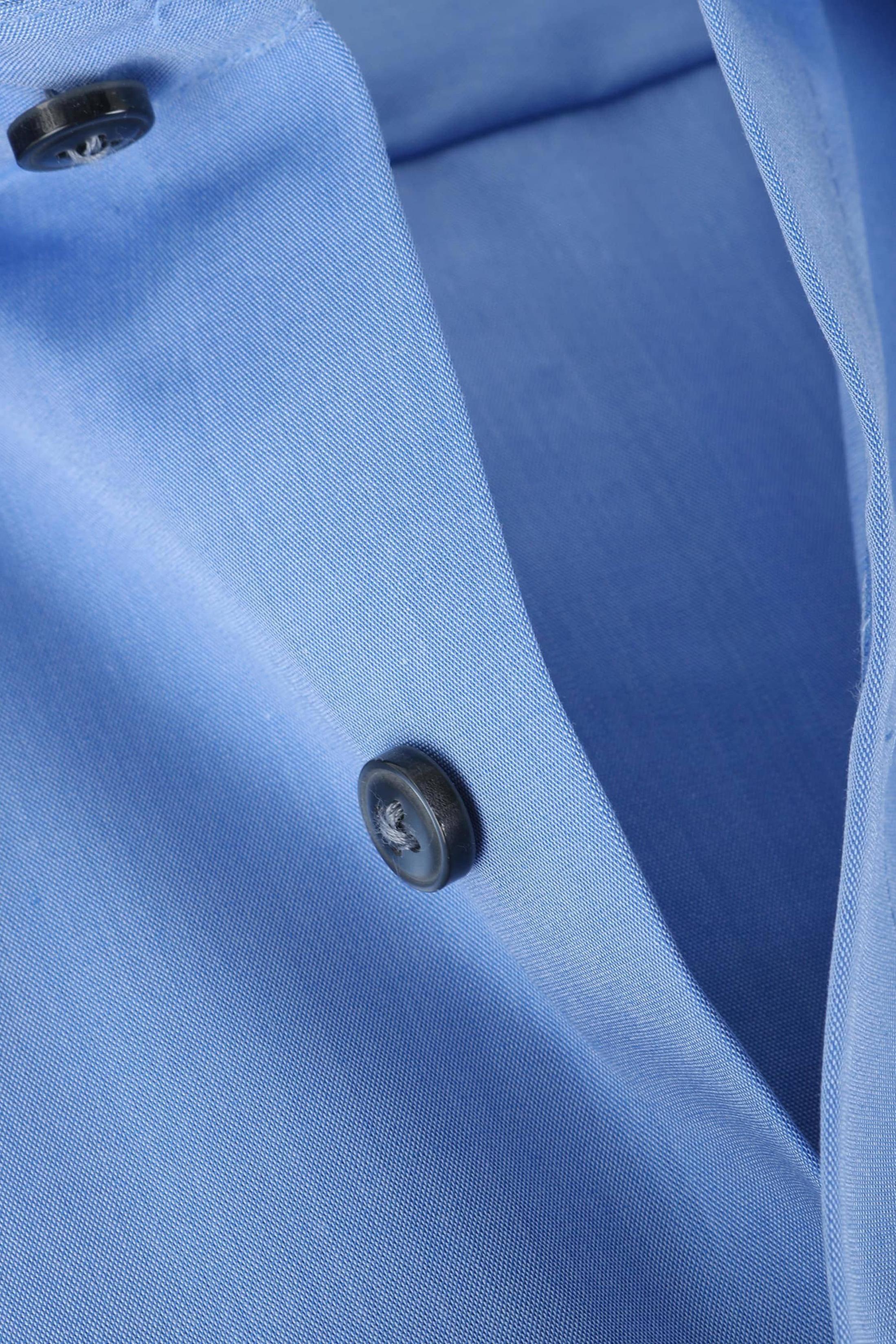 OLYMP Luxor Shirt Blauw Comfort Fit Lange Mouw foto 1