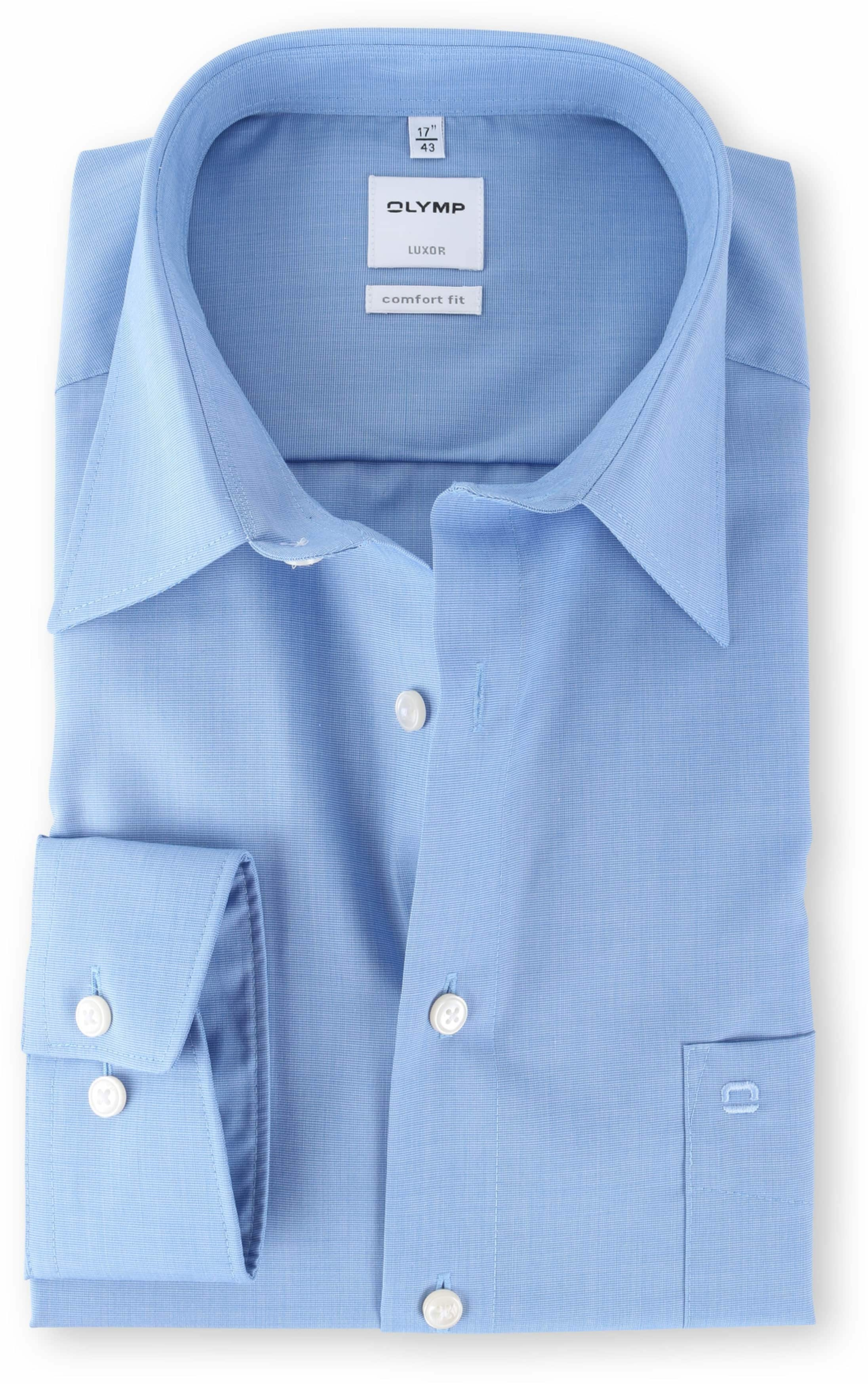 arrives look out for separation shoes Olymp Luxor Shirt Blue Comfort Fit 025564
