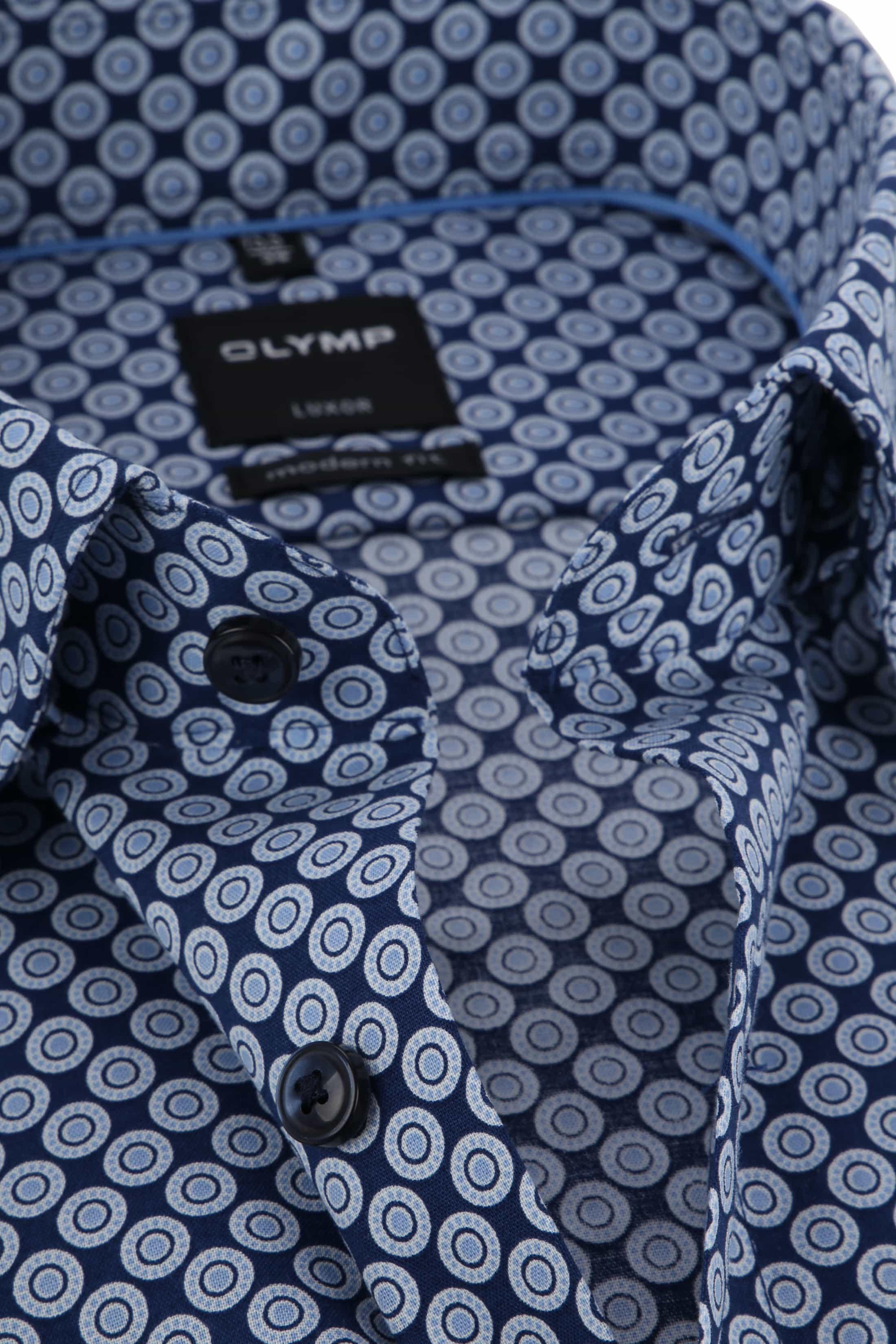 OLYMP Luxor Shirt Blue Dessin foto 1