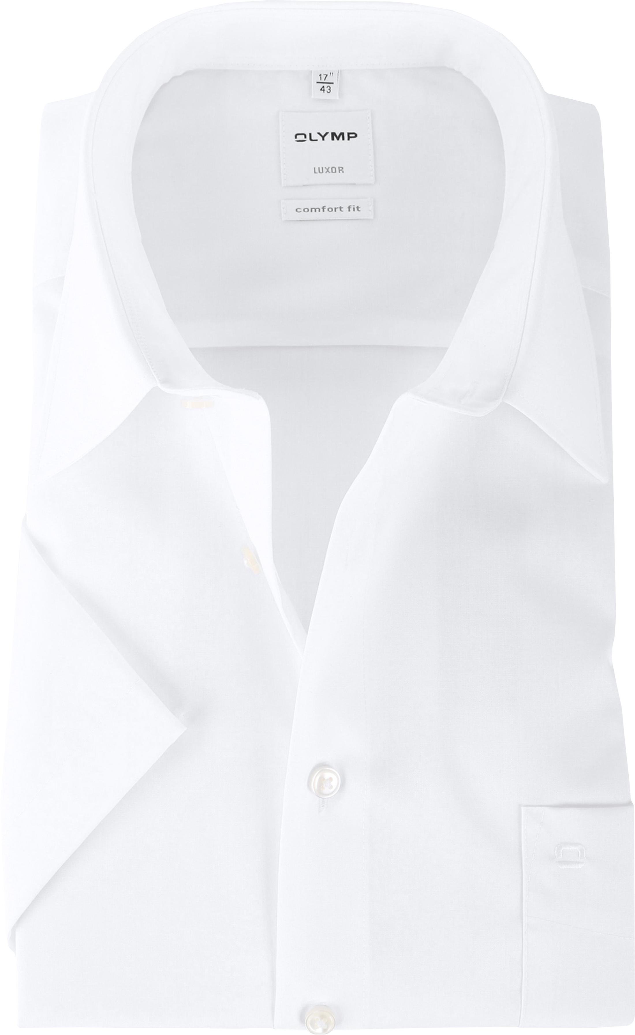OLYMP Luxor Shirt Comfort Fit Wit Korte Mouw foto 0