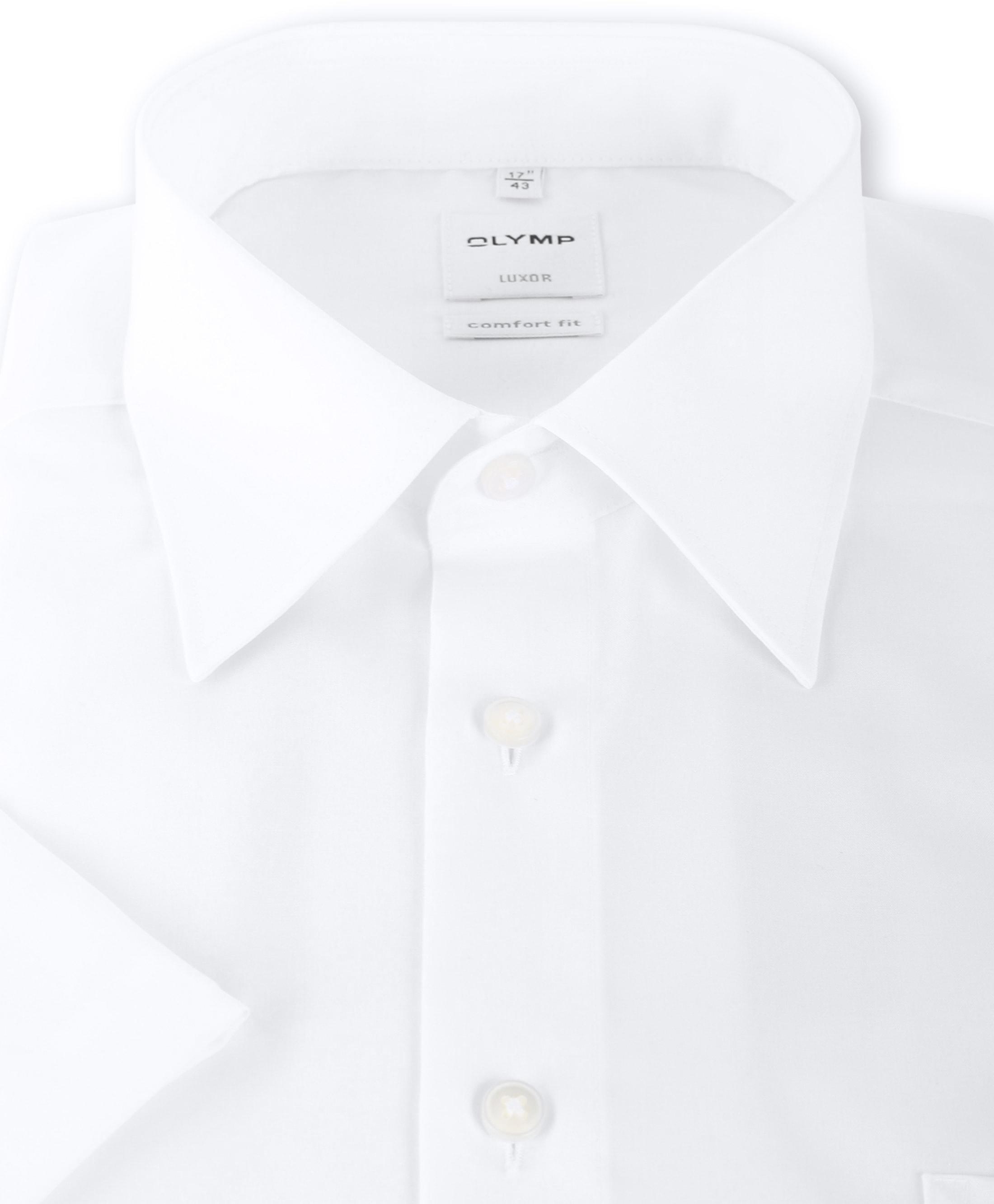 OLYMP Luxor Shirt Comfort Fit Wit Korte Mouw foto 2