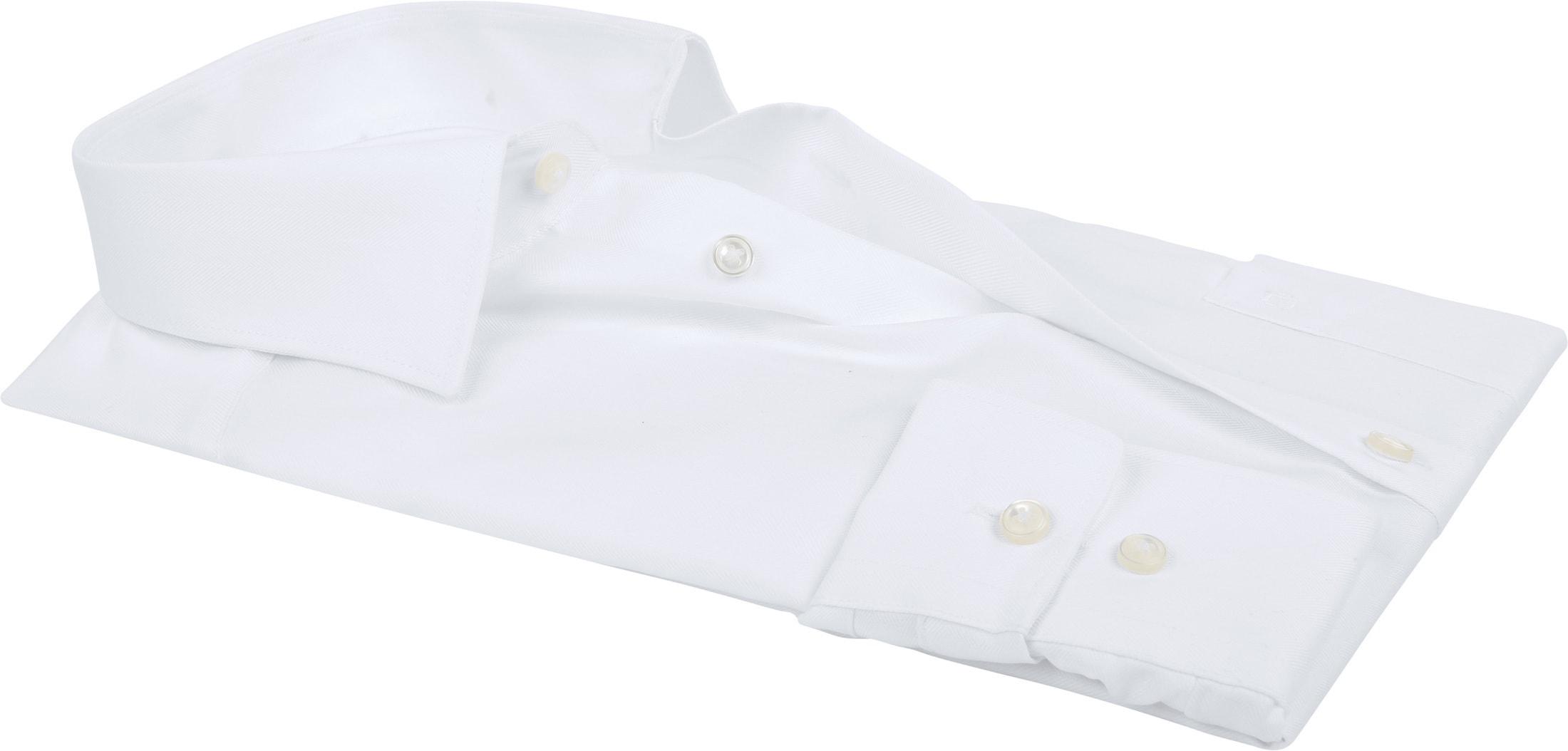 Olymp Luxor Shirt Slim Line White Herringbone