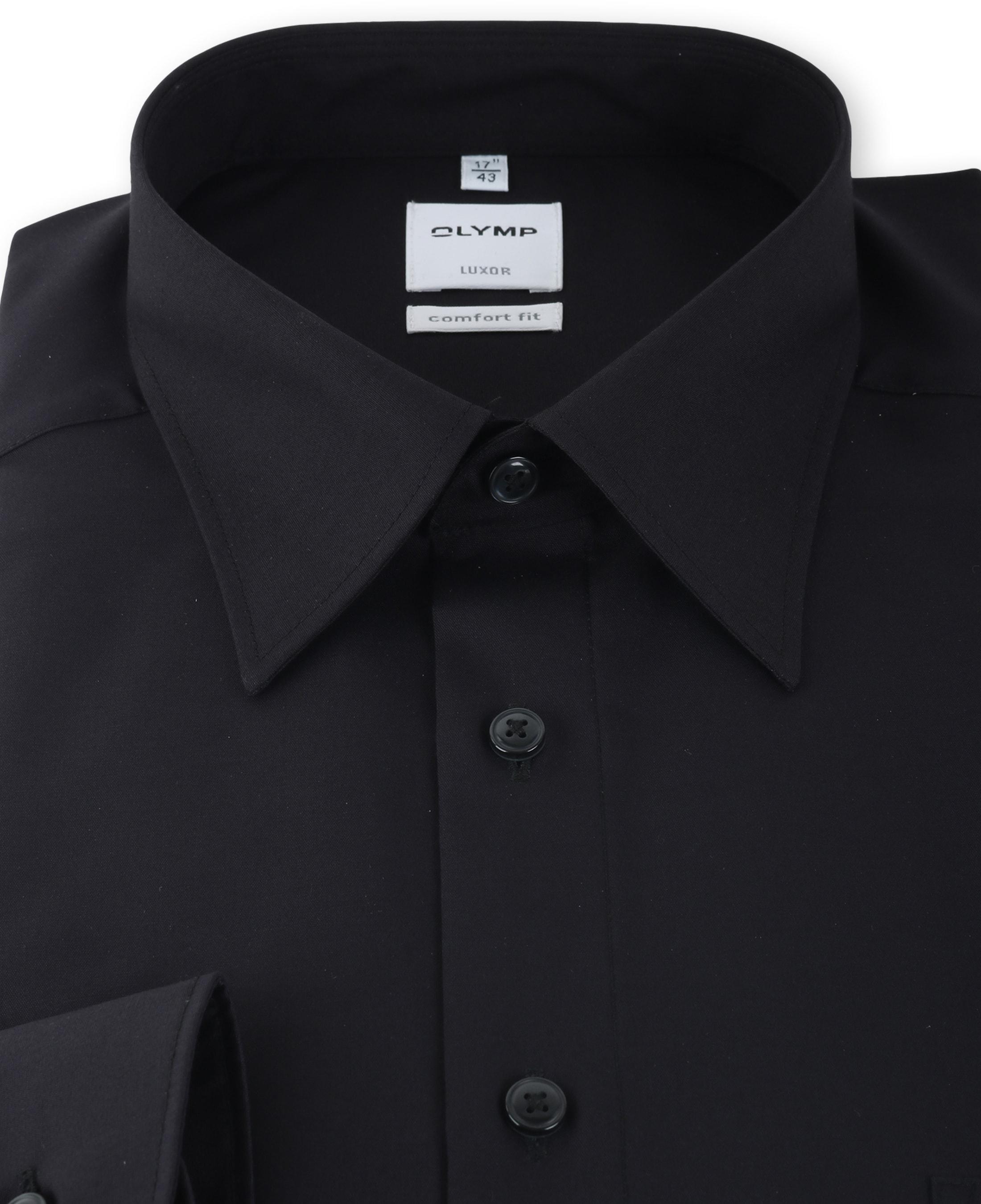 OLYMP Luxor Shirt Zwart Comfort Fit foto 1