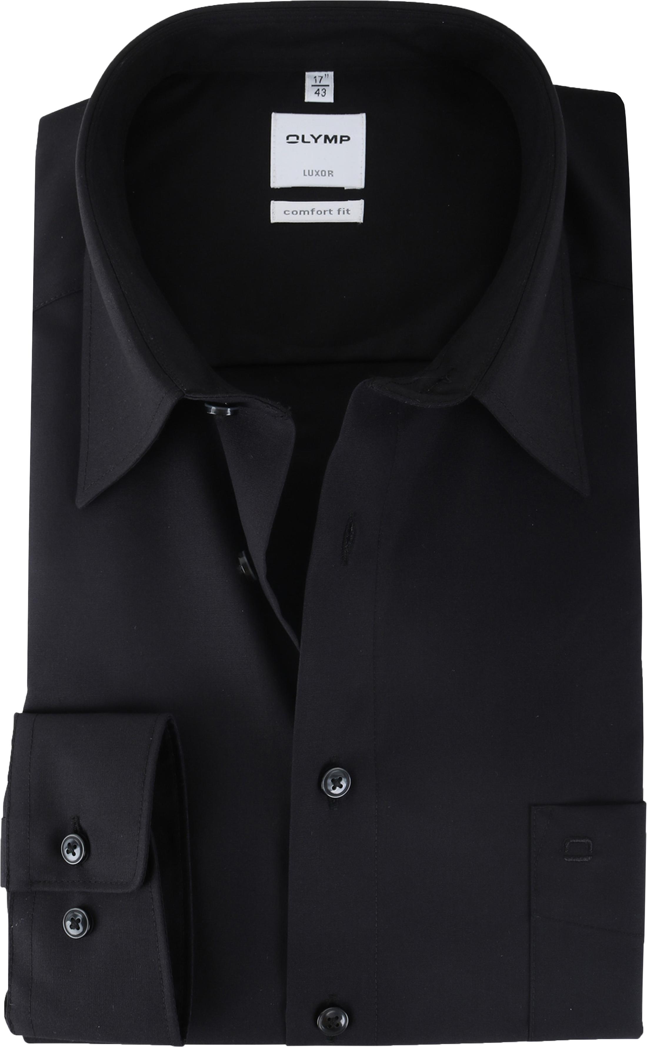 OLYMP Luxor Shirt Zwart Comfort Fit foto 0