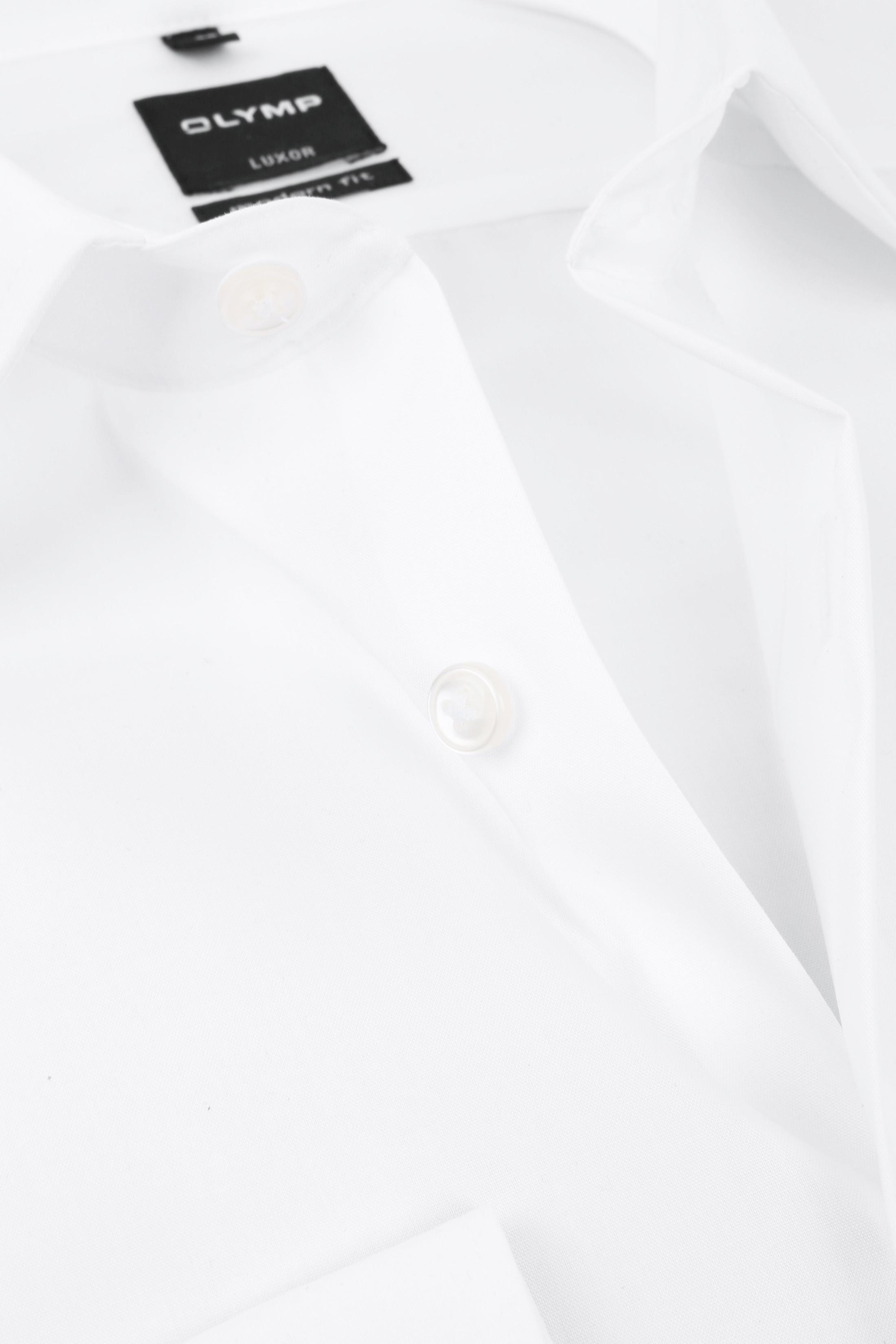 OLYMP Luxor SL7 Overhemd Modern Fit Wit foto 1