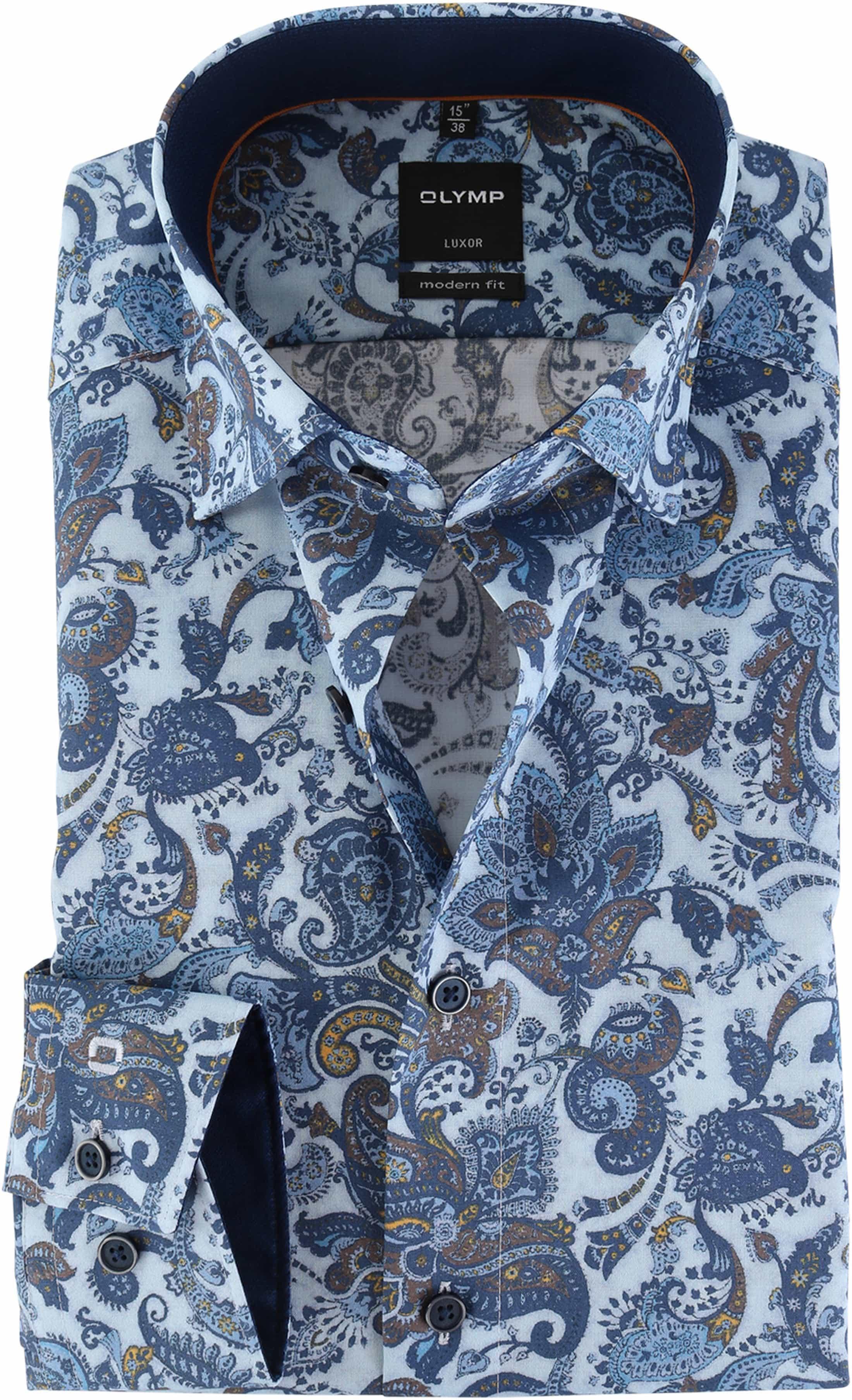 Luxor Online Modern Strijkvrij Fit Paisley 120684 Olymp Overhemd WD2IYbH9eE