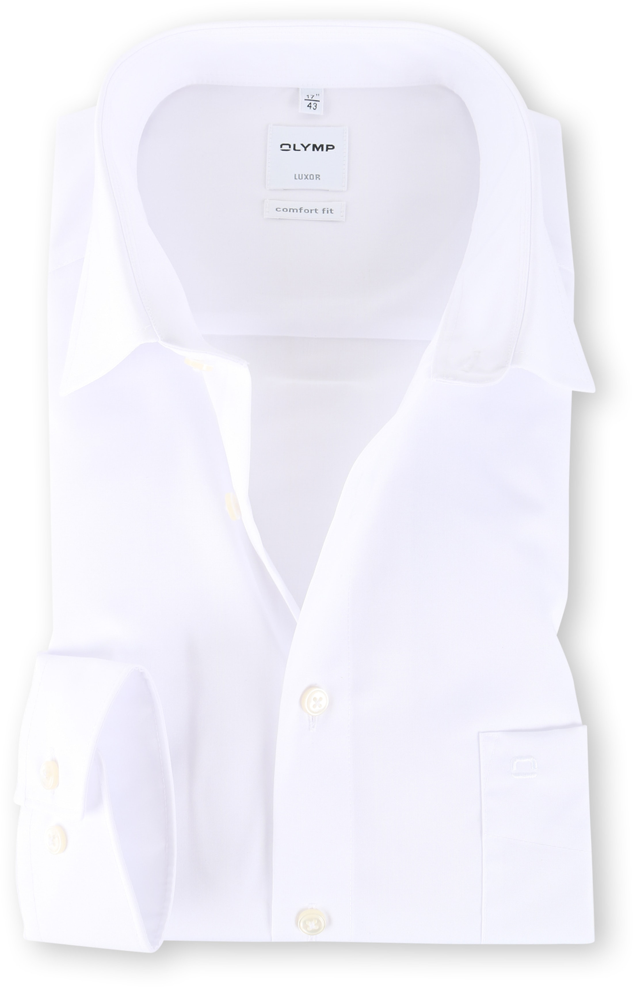 OLYMP Luxor Strijkvrij Shirt Comfort Fit Wit foto 0