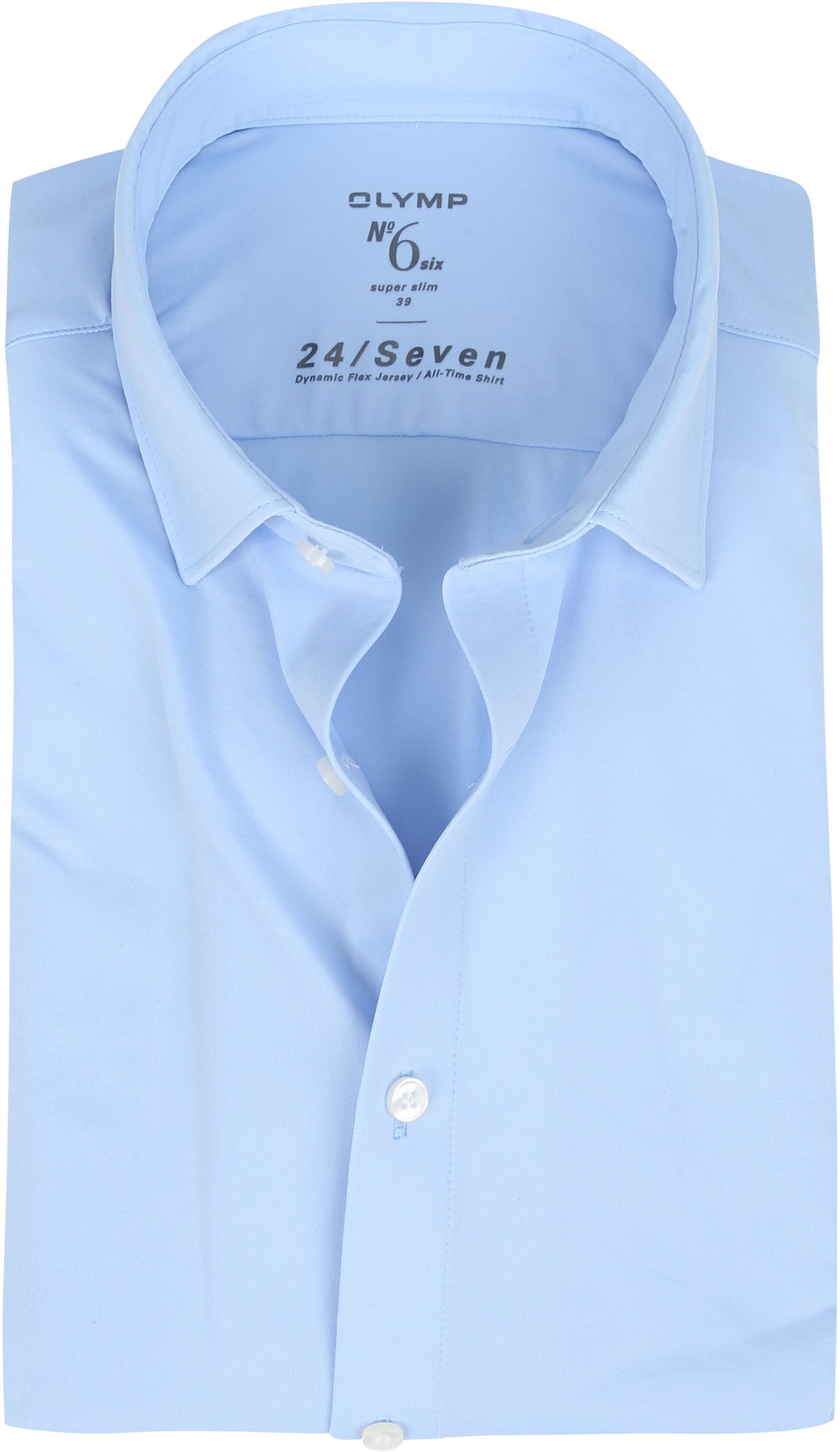 OLYMP No'6 Overhemd 24/Seven Blauw