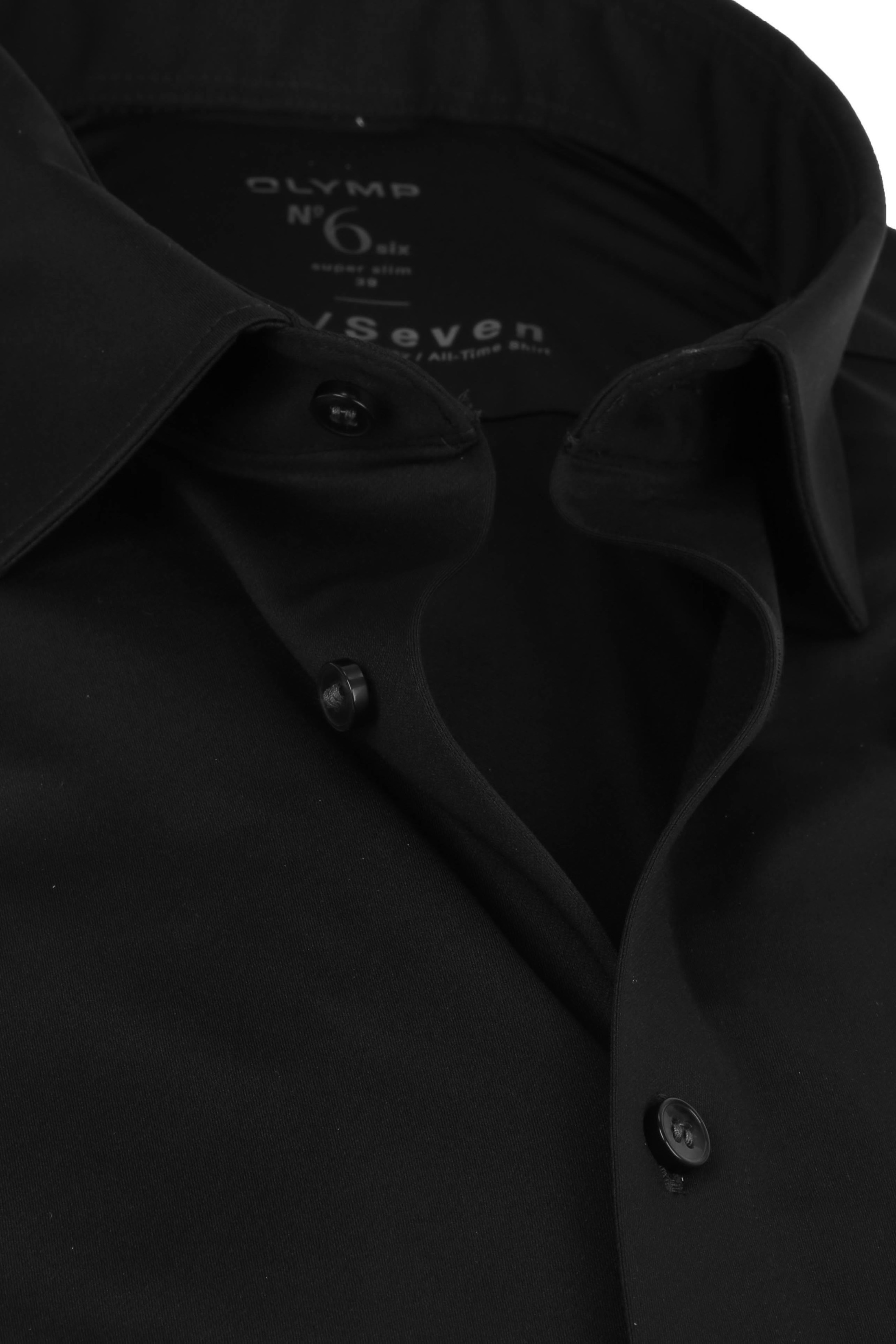 OLYMP No'6 Overhemd 24/Seven Zwart