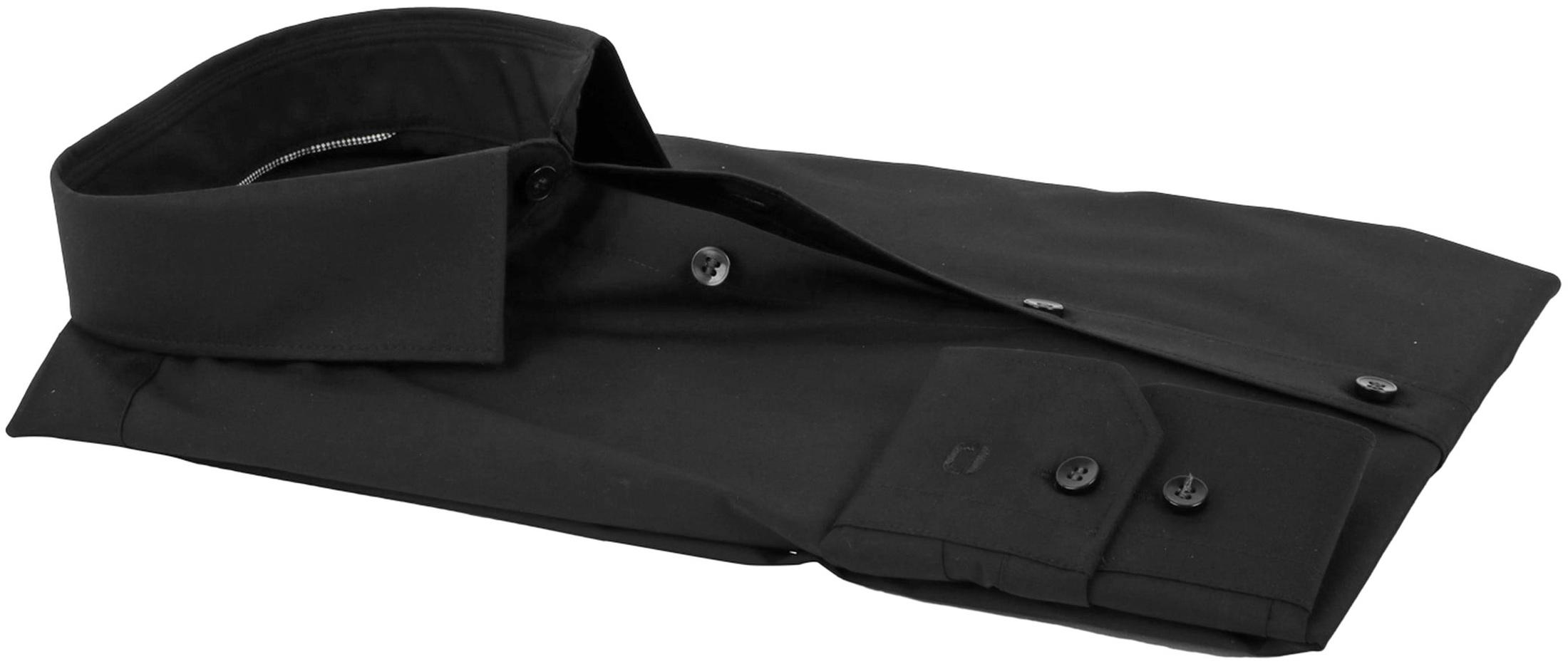 OLYMP No'6 six Super Slim Fit Overhemd Zwart foto 3