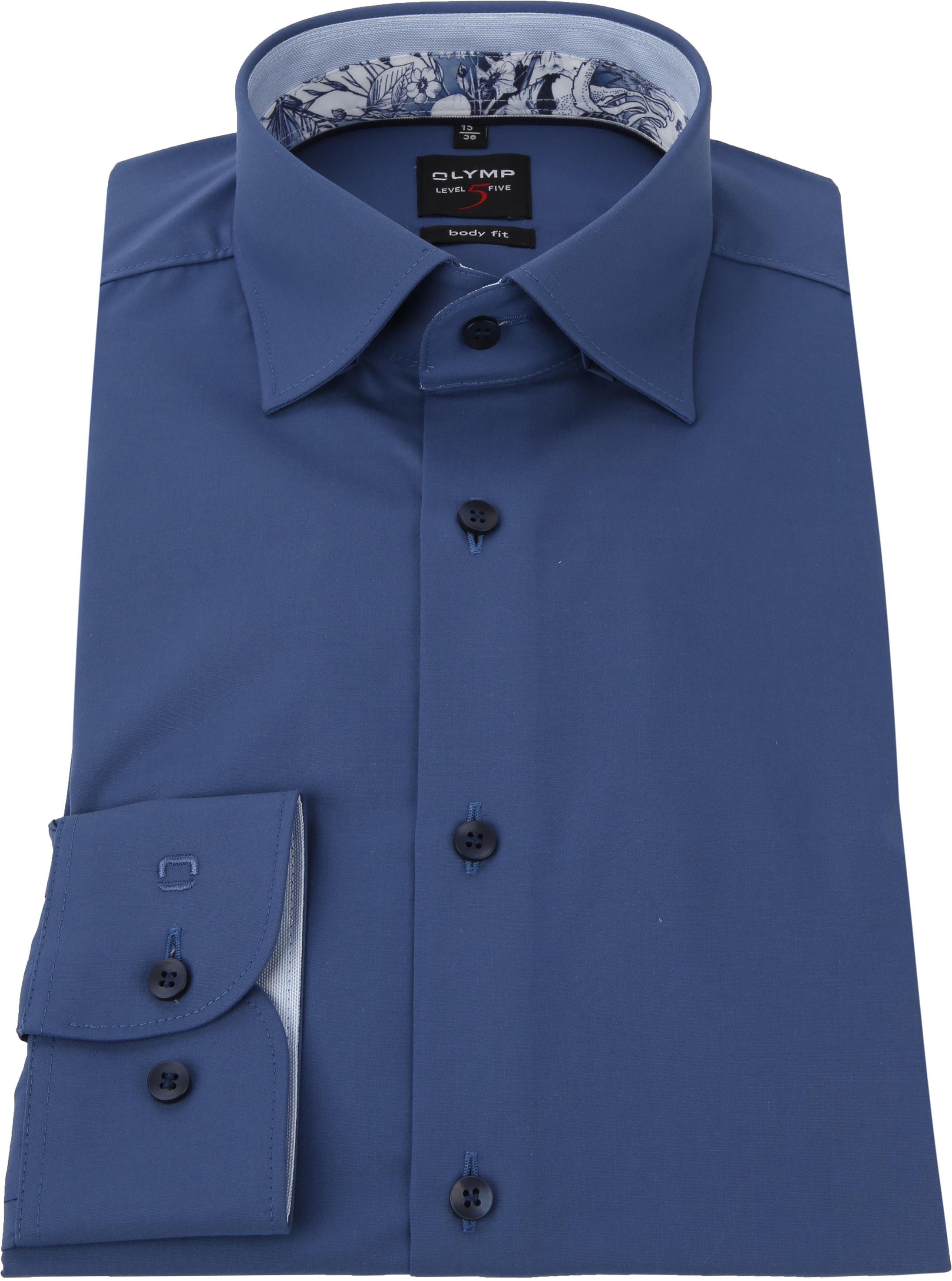 OLYMP Overhemd BF Level 5 Blauw foto 2