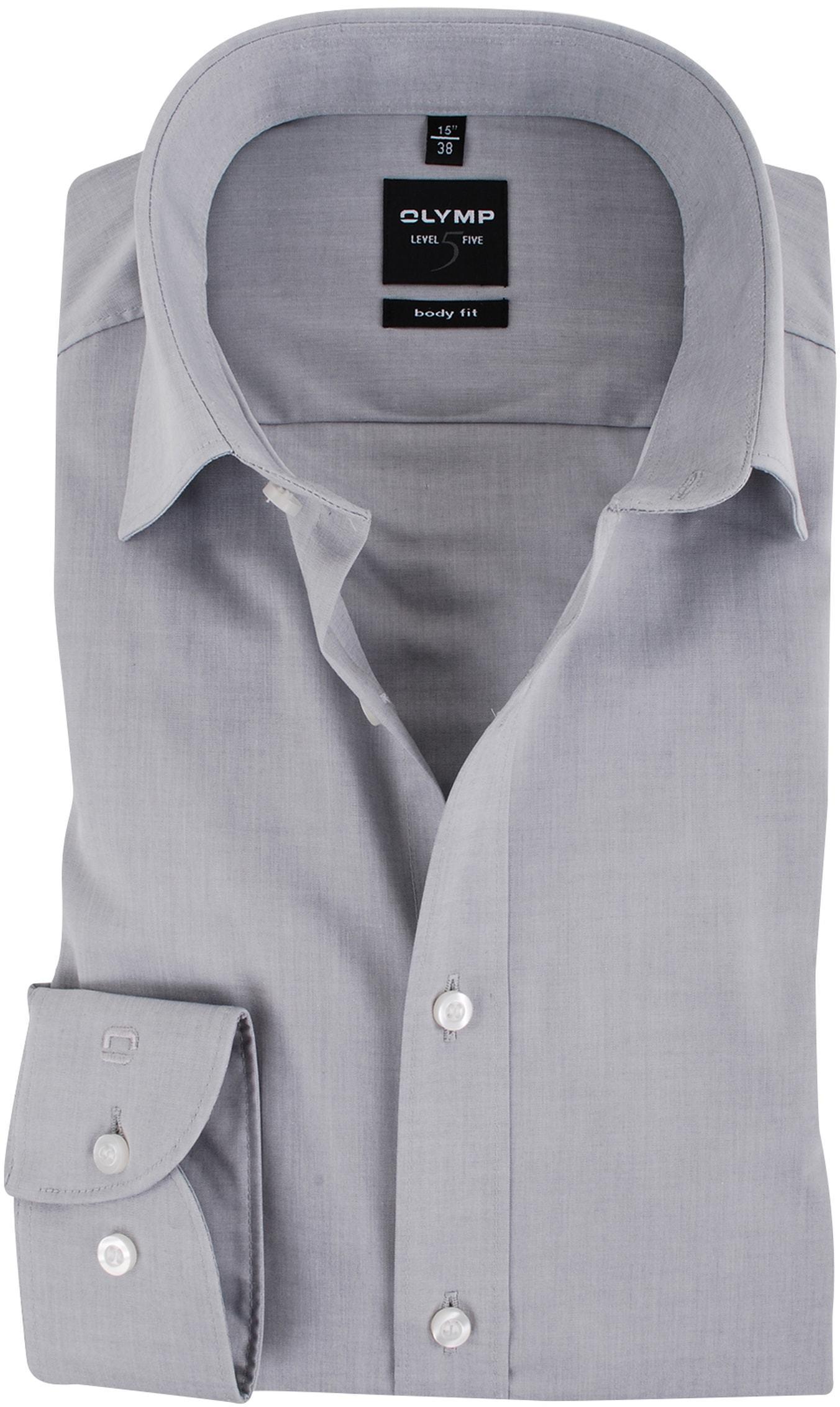 OLYMP Overhemd Body-Fit Grijs foto 0