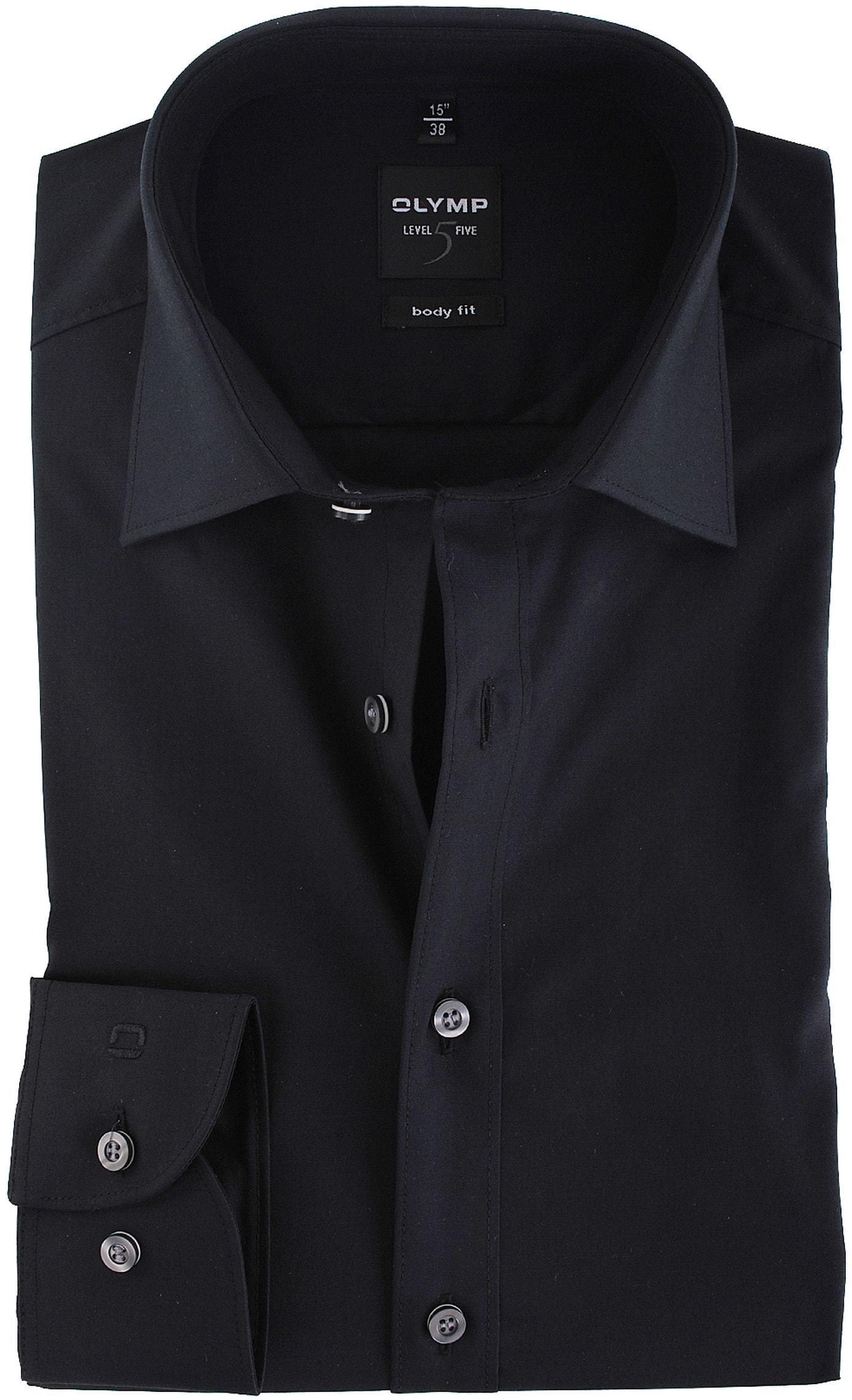 home olymp hemden olymp overhemd body fit zwart. Black Bedroom Furniture Sets. Home Design Ideas
